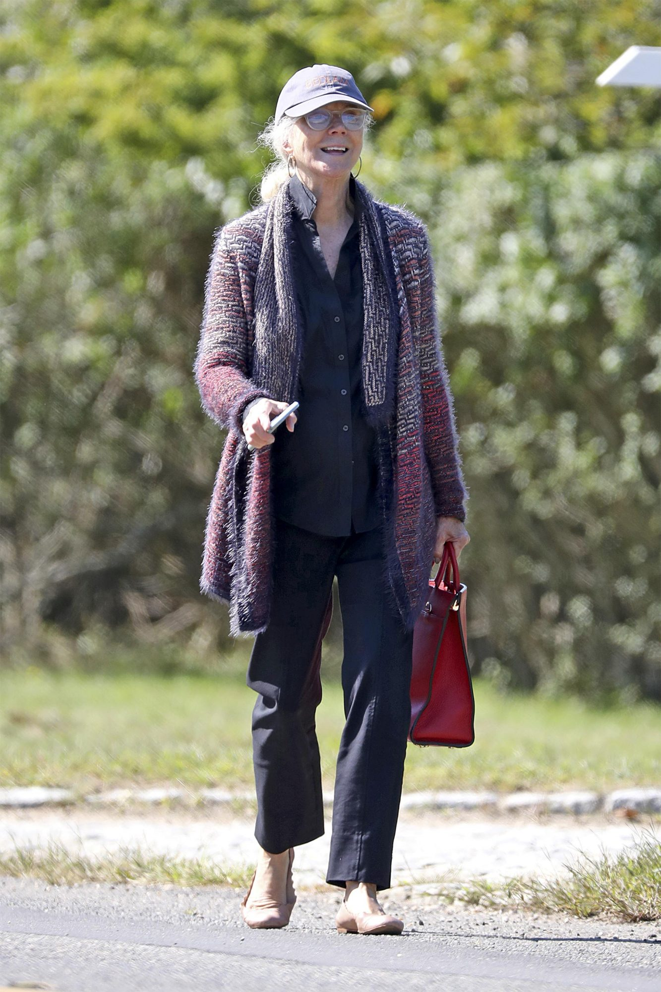 EXCLUSIVE: Blythe Danner is Pictured the Morning After Hosting the Paltrow-Falchuk Wedding in East Hampton