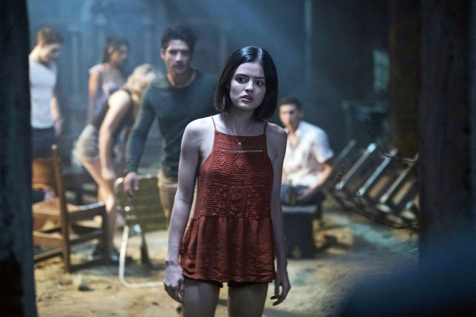TRUTH OR DARE, front: Lucy Hale, rear: Tyler Posey, 2018. © Universal Pictures/courtesy Everett
