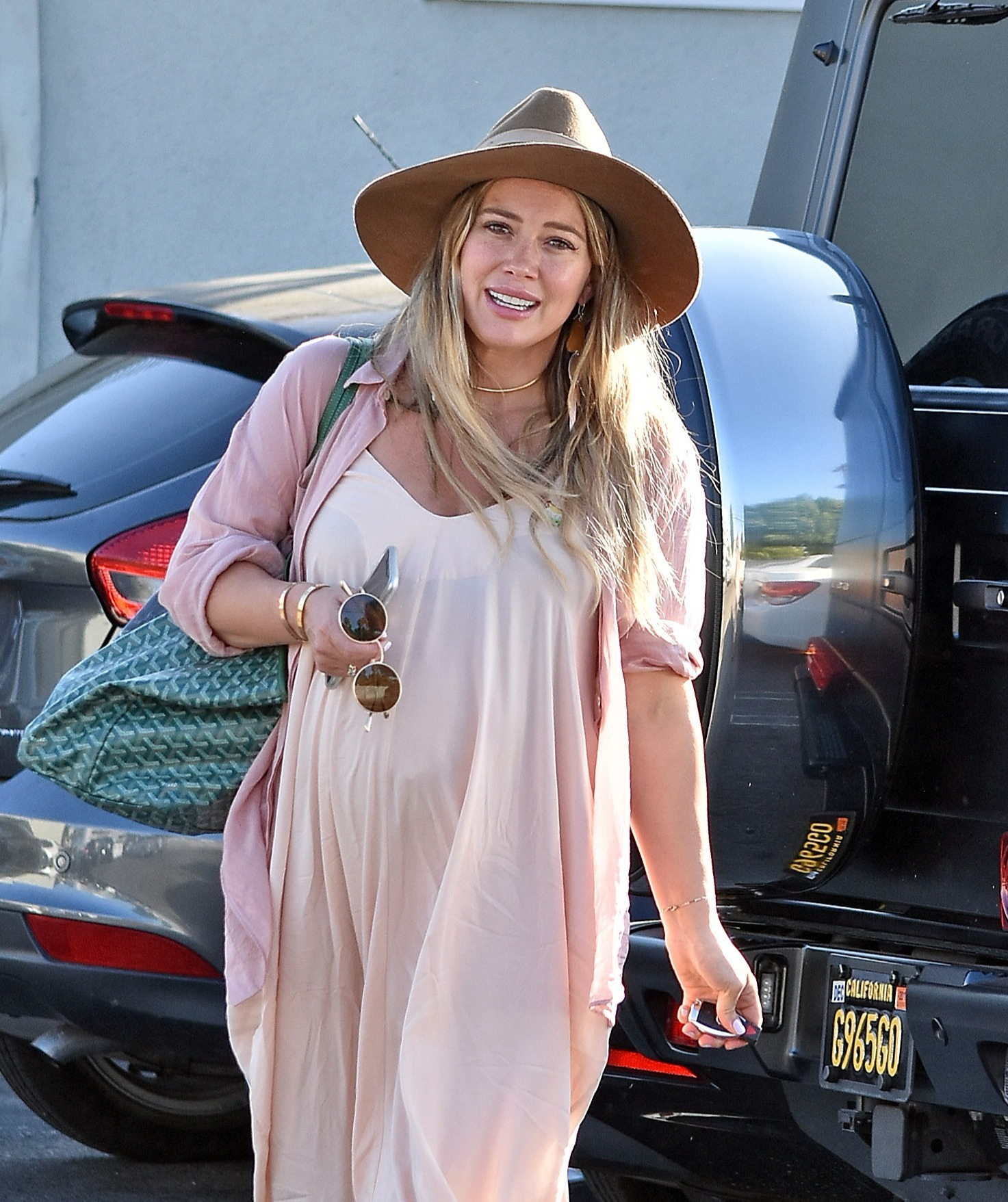 EXCLUSIVE: Pregnant Hilary Duff Out And About In Los Angeles