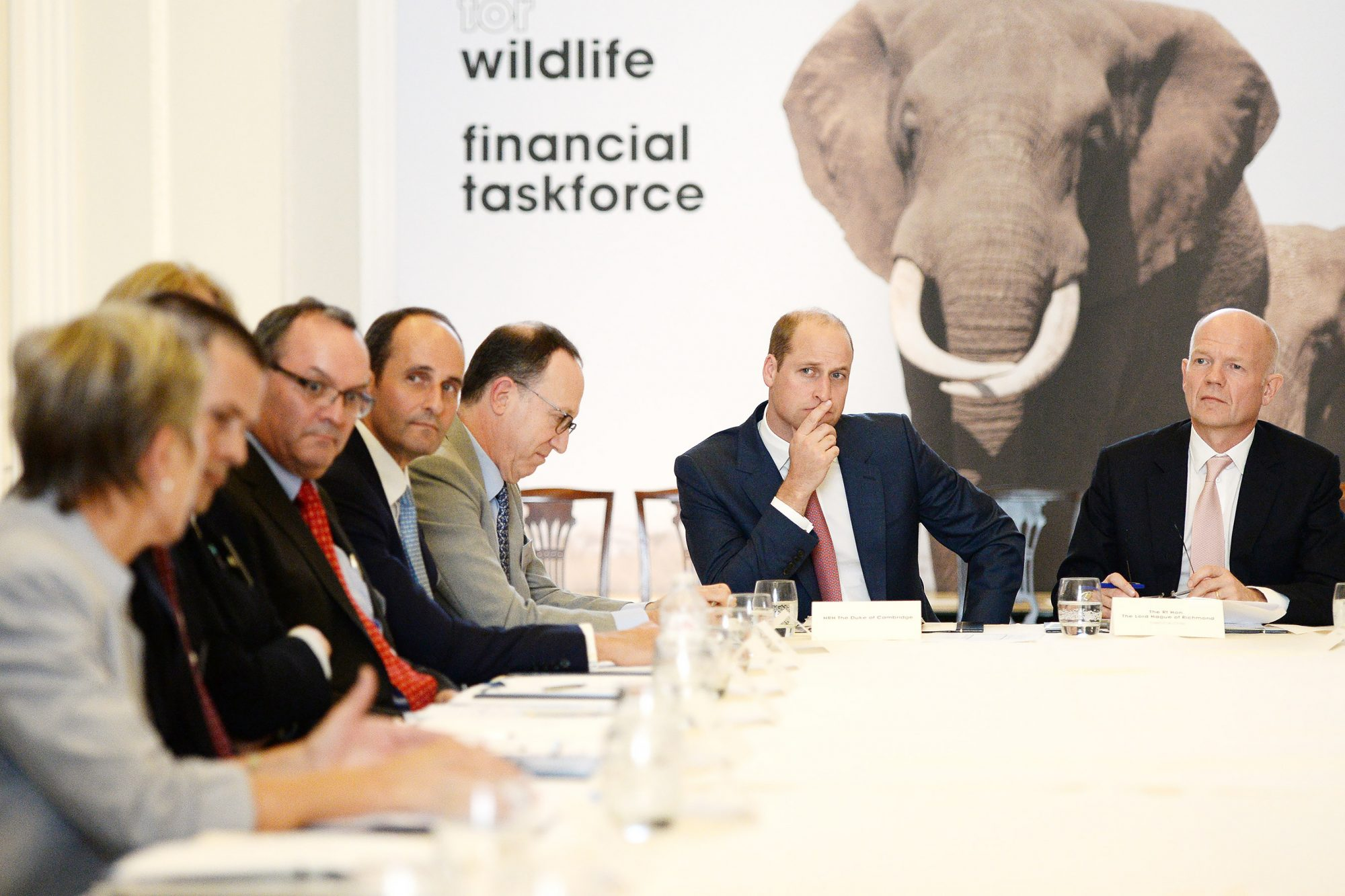 The Duke Of Cambridge Hosts The Signing Ceremony Of United For Wildlife's Financial Taskforce Declaration