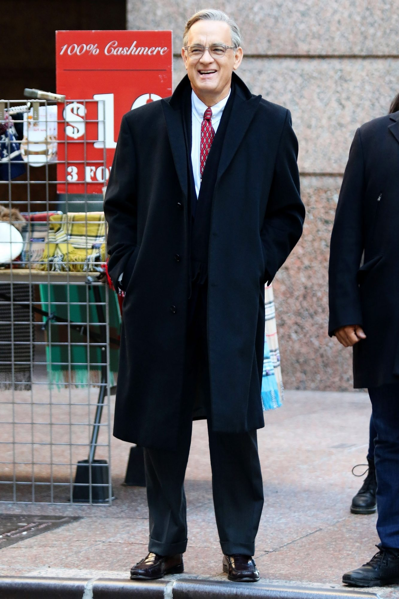 """Tom Hanks as Mister Rogers filming """"You Are My friend"""" in NYC"""