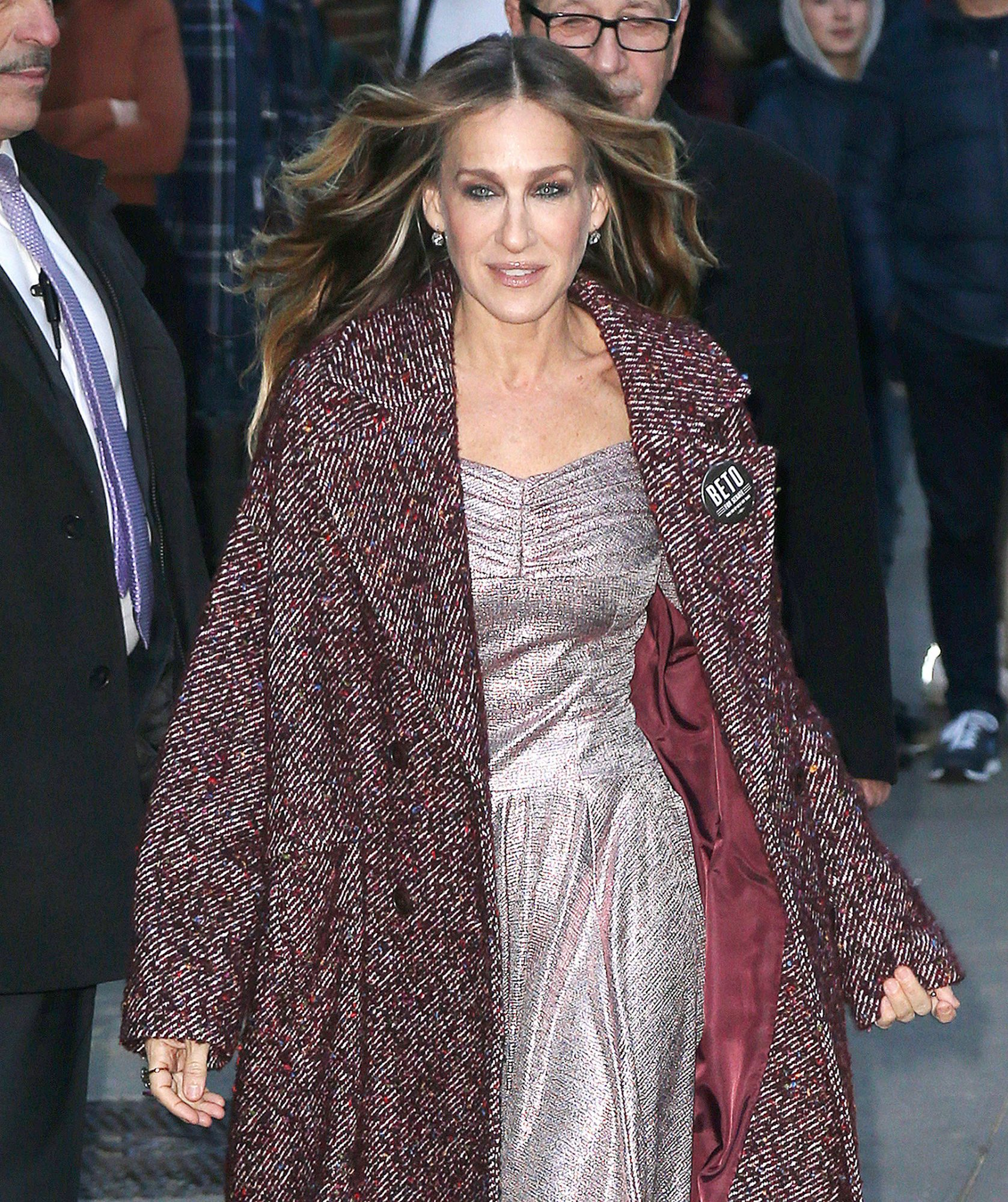 Sarah Jessica Parker Visits The Late Show With Stephen Colbert In New York