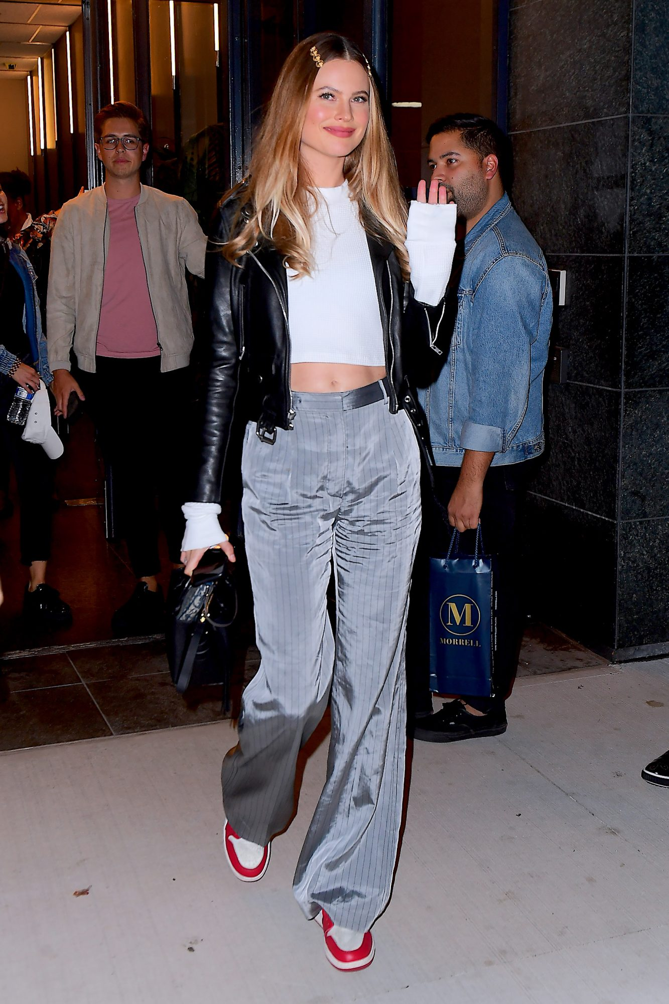 Behati Prinsloo Flaunts her Toned Abs as the Mom of 2 Announces She's Returning to the VS Fashion Show Runway