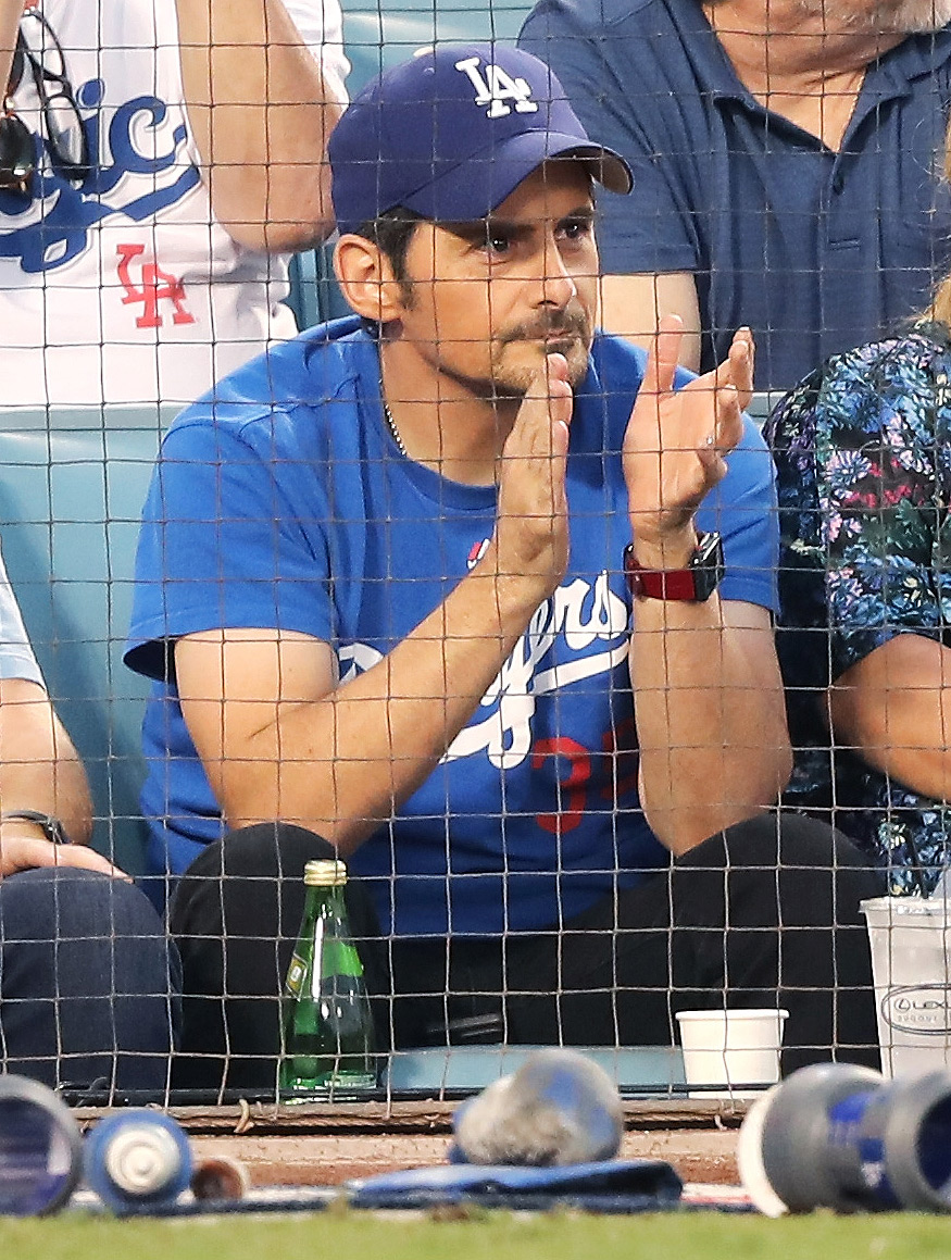 Celebrities At The Los Angeles Dodgers Game - World Series - Boston Red Sox v Los Angeles Dodgers - Game Three