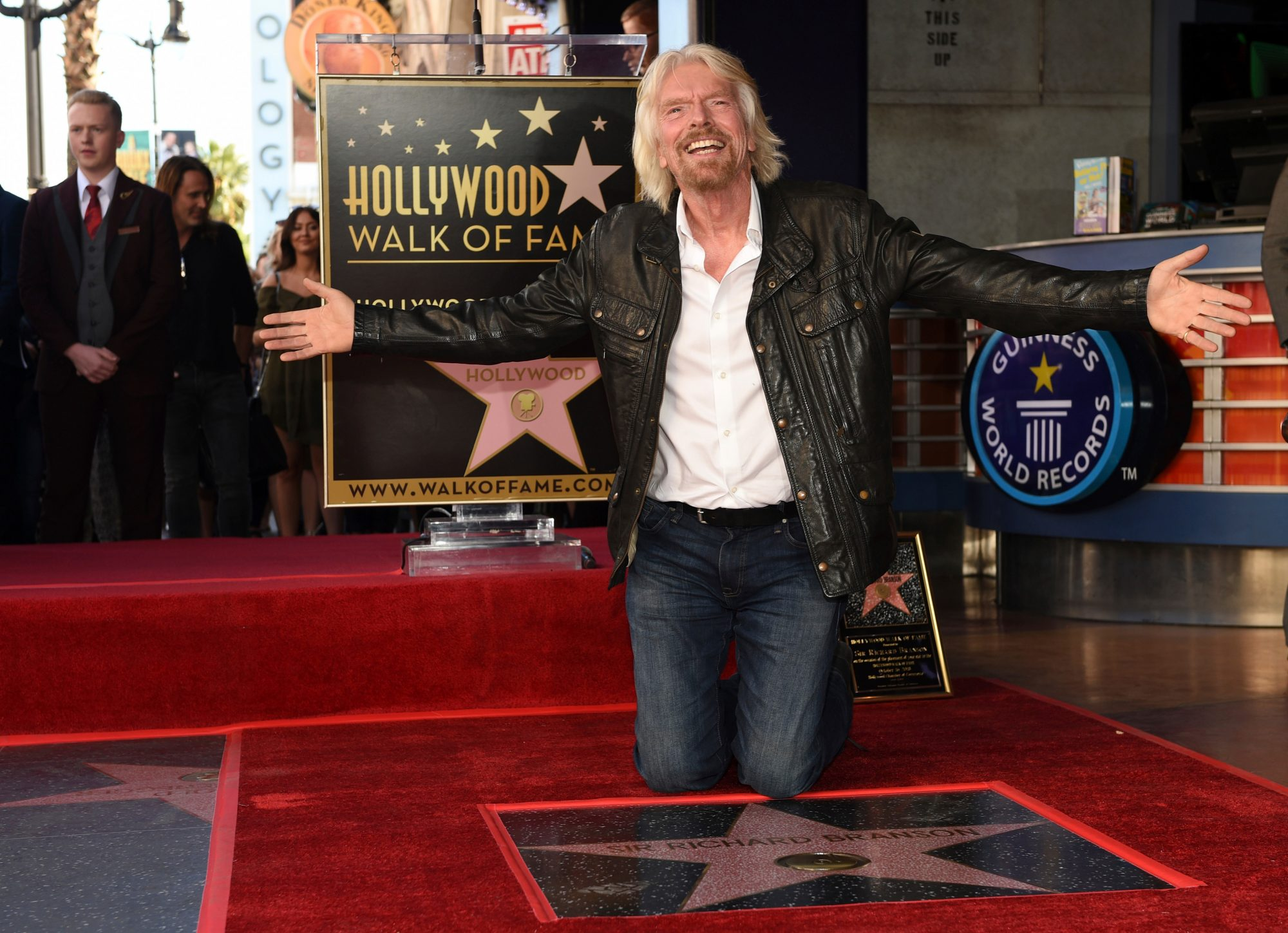 Sir Richard Branson Honored with a Star on the Hollywood Walk of Fame, Los Angeles, USA - 16 Oct 2018