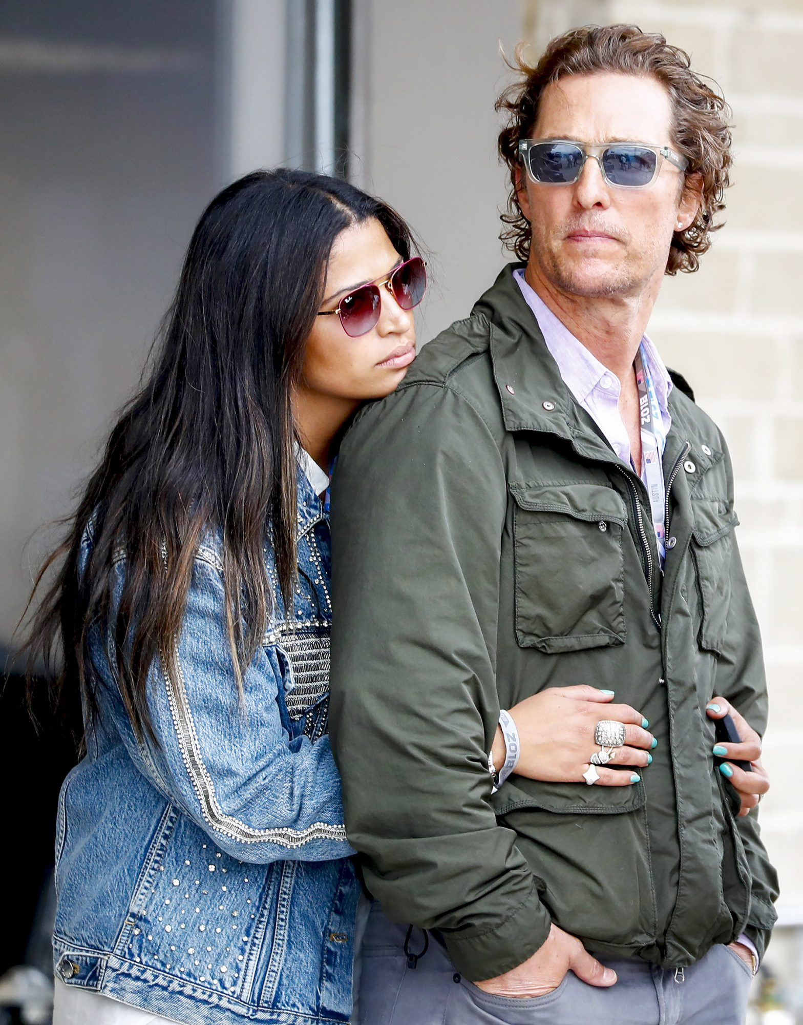 Matthew McConaughey and wife Camila Alves attend Grand Prix of United States in Austin