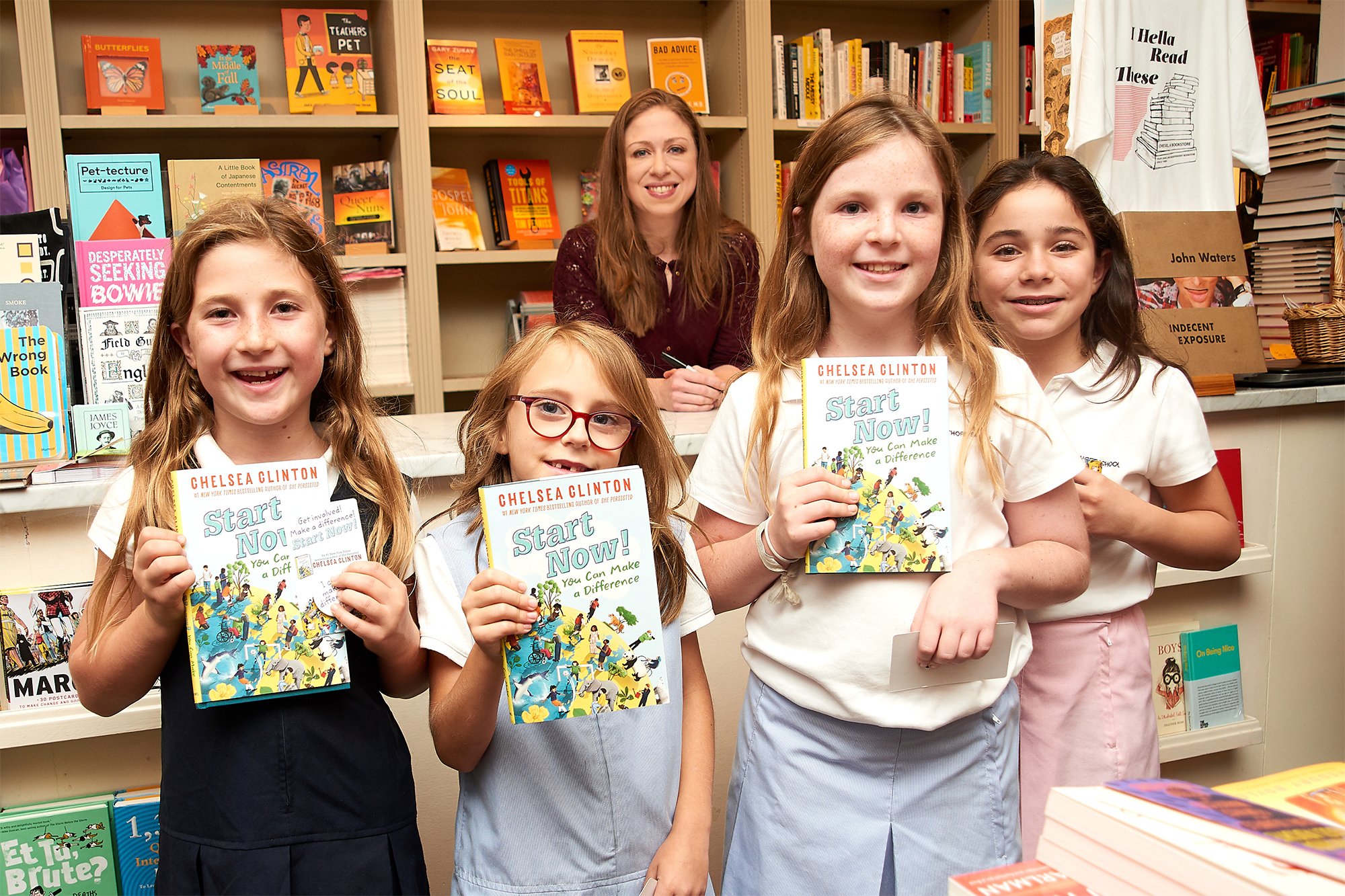 """Chelsea Clinton Signs And Discusses Her New Children's Book """"Start Now!  You Can Make A Difference"""""""