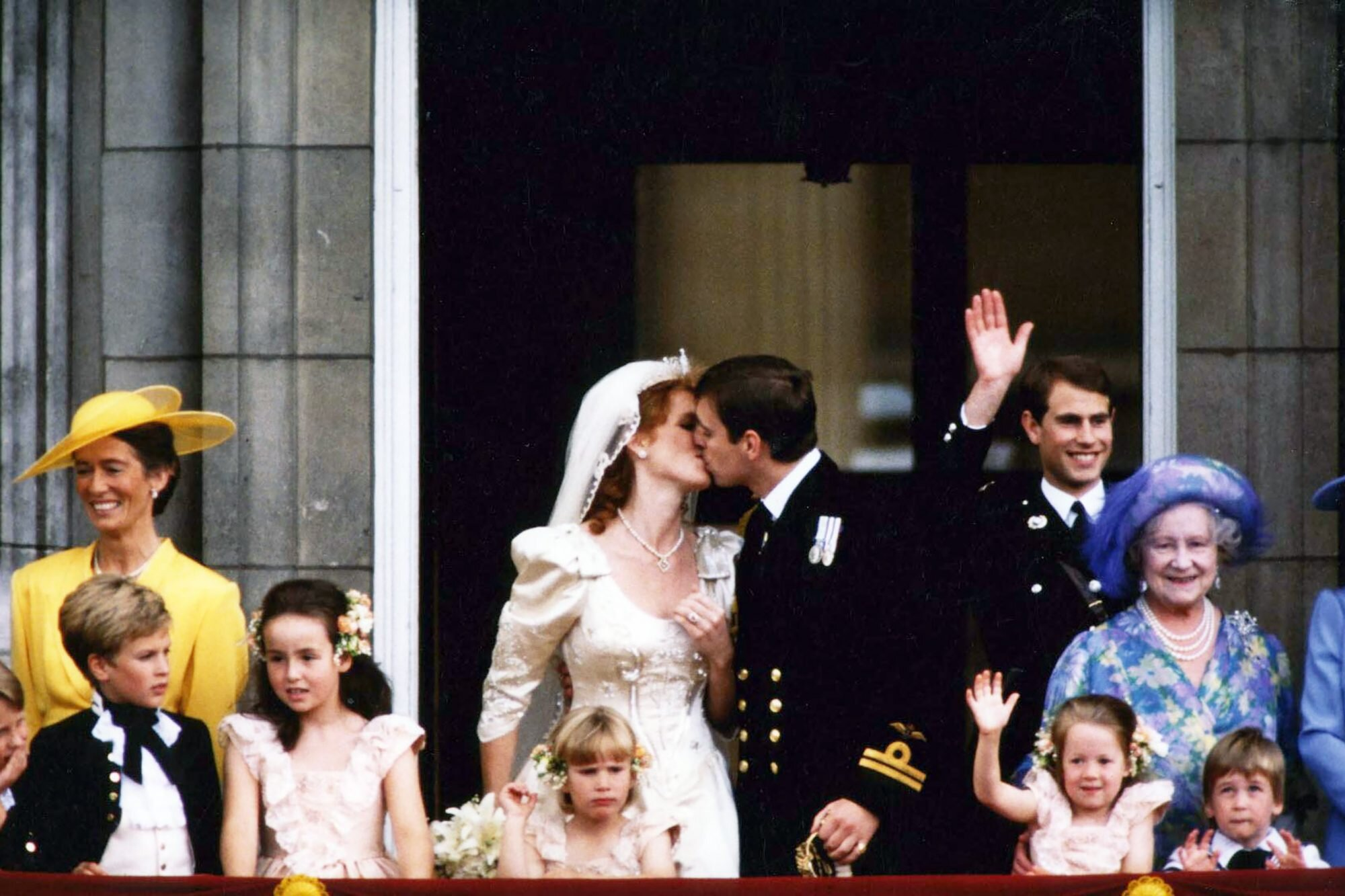 Scenes From the Balcony at Buckingham Palace After the Wedding of Prince Andrew, Duke of York to Sarah Ferguson