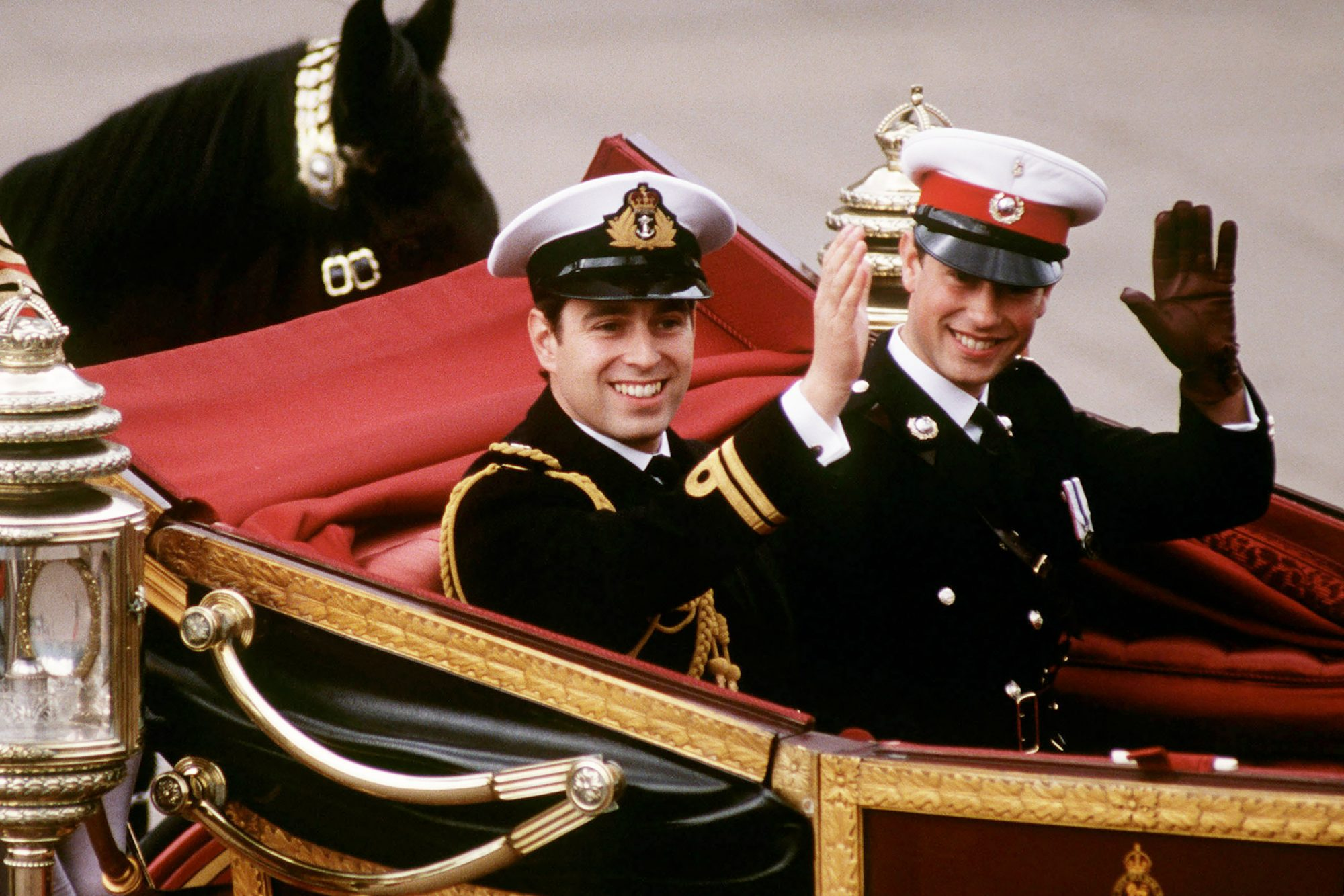Prince Edward With  Prince Andrew On Wedding Day
