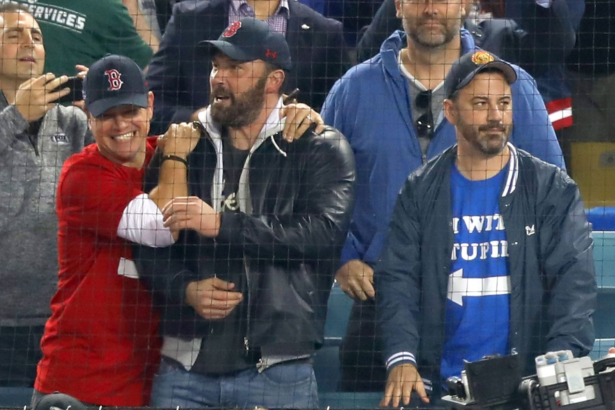 Celebrities At The Los Angeles Dodgers Game - World Series - Boston Red Sox v Los Angeles Dodgers - Game Five