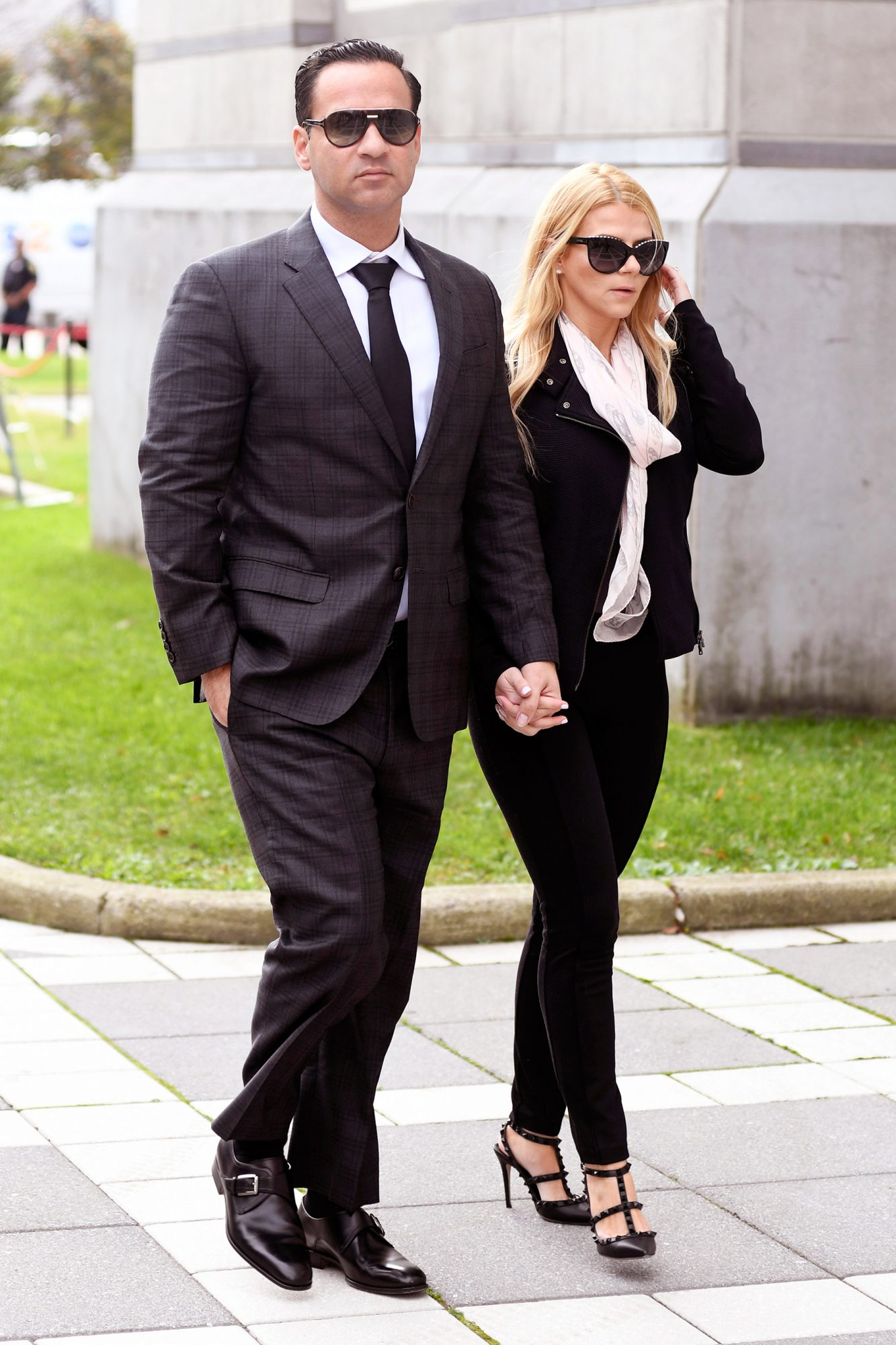 Mike (The Situation) Sorrentino and his girlfriend are photogaphed arriving at Newwark Nj court were he is to be sentenced for tax evasion
