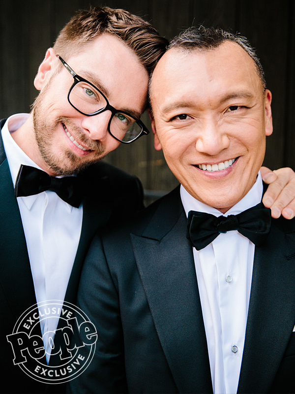 Joe Zee and Rob Younkers wedding. CREDIT: Joel Barhamand/A Couple of Cameras