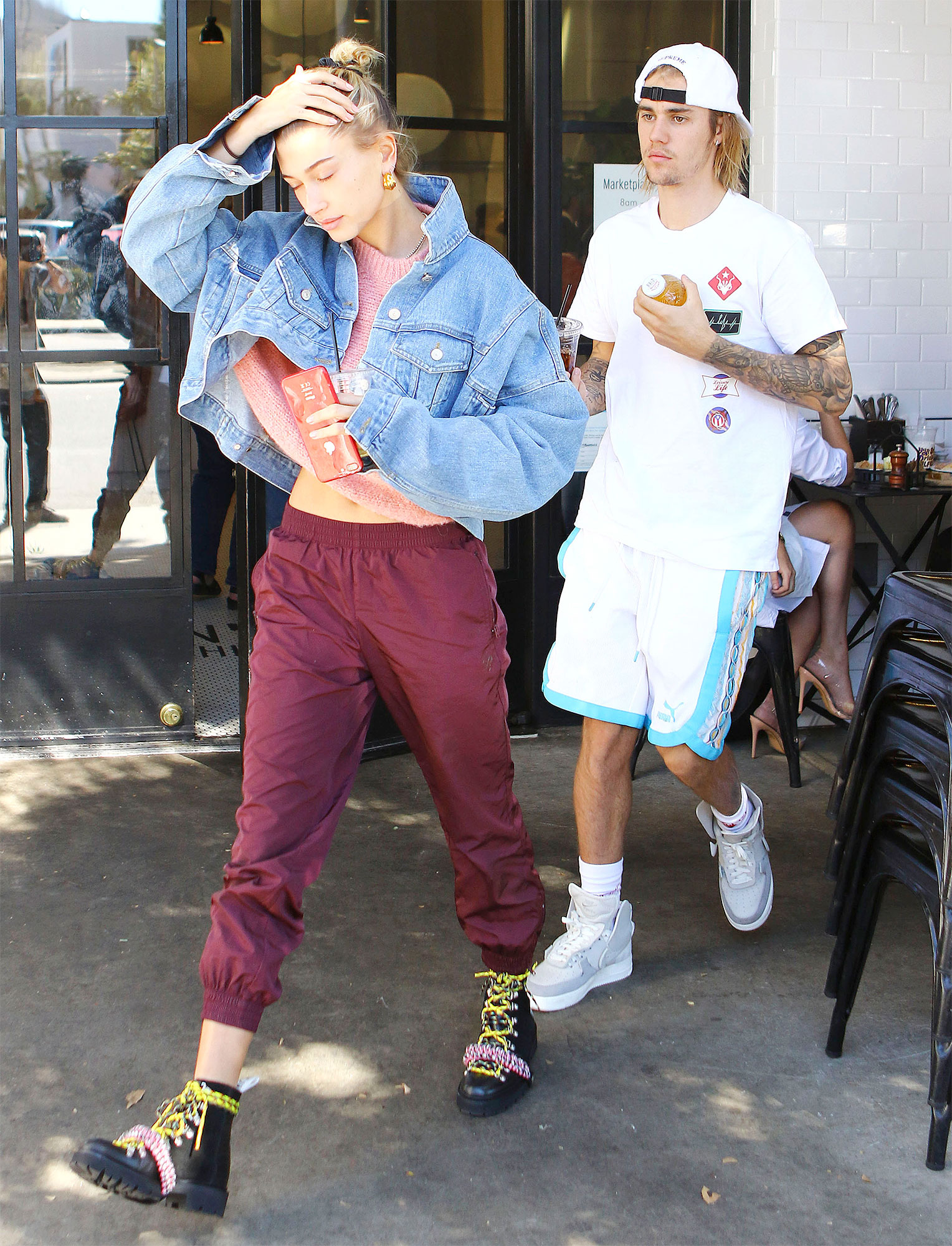 Justin Bieber And Hailey Rhode Baldwin Leave Joans On Third In West Hollywood