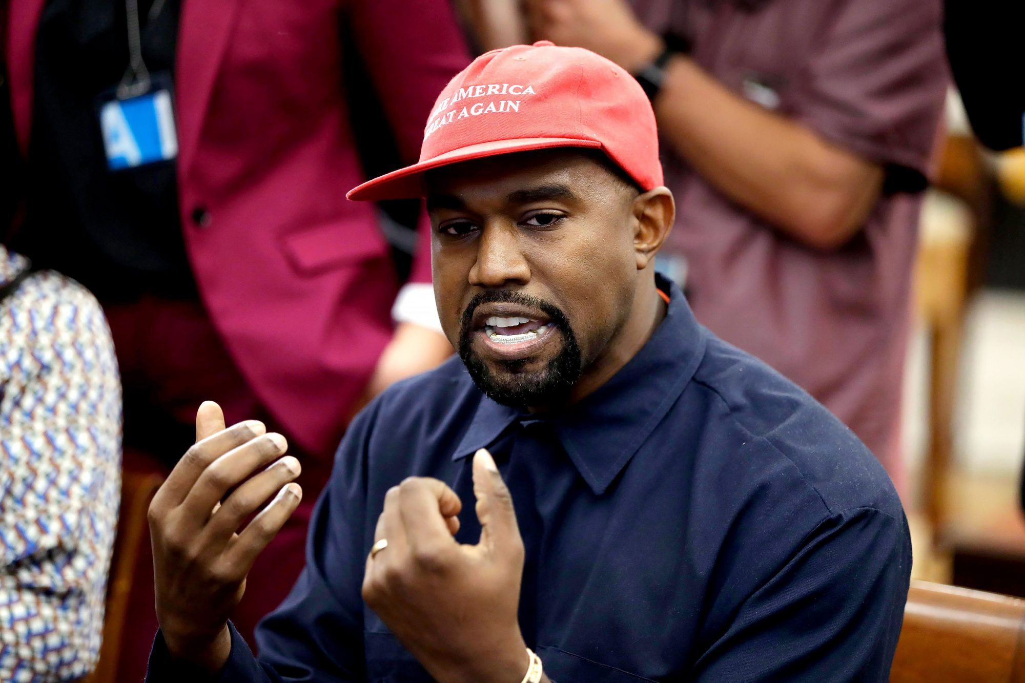 Trump Kanye West, Washington, USA - 11 Oct 2018