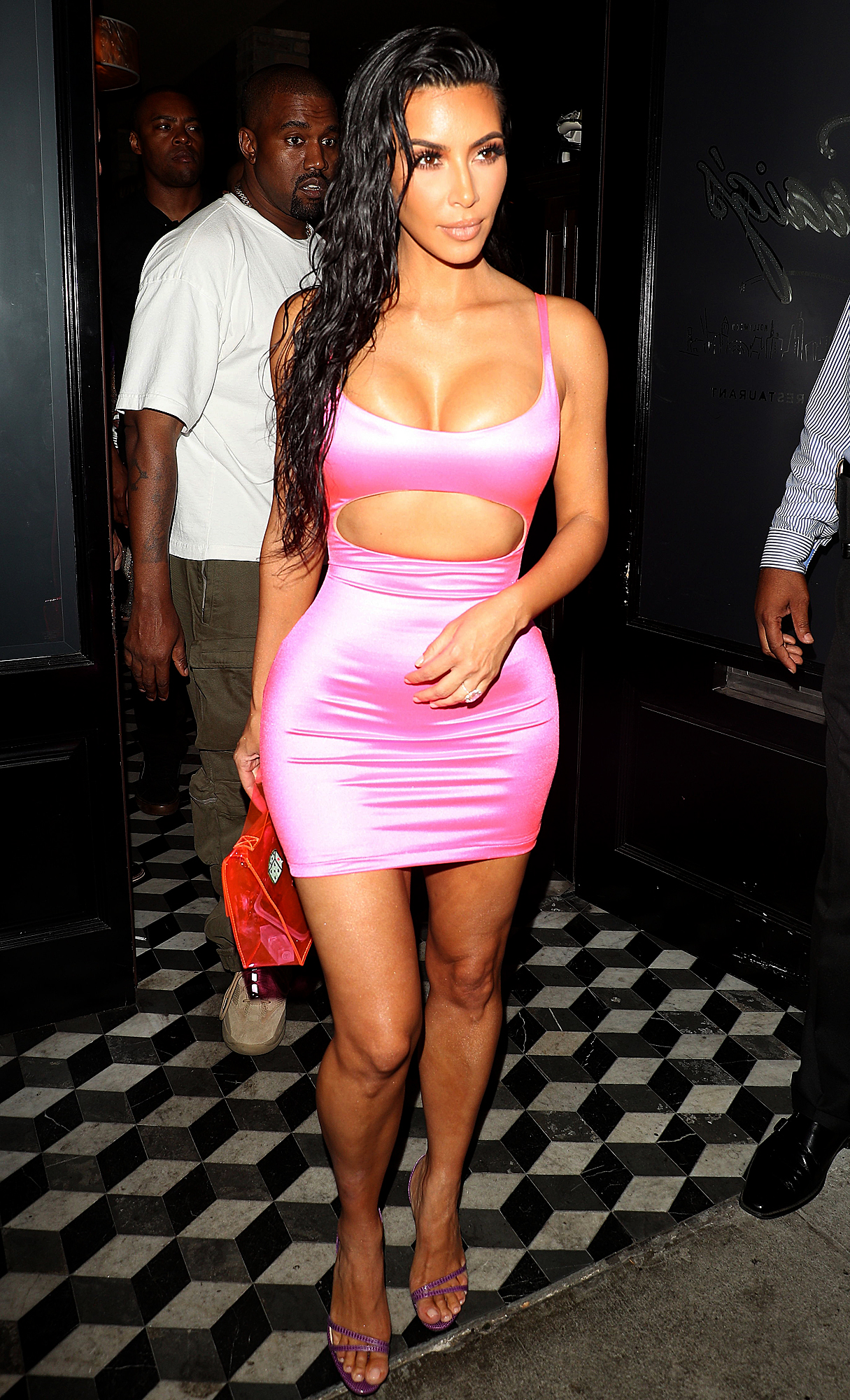kim kardashian leaves craigs in LA, CA