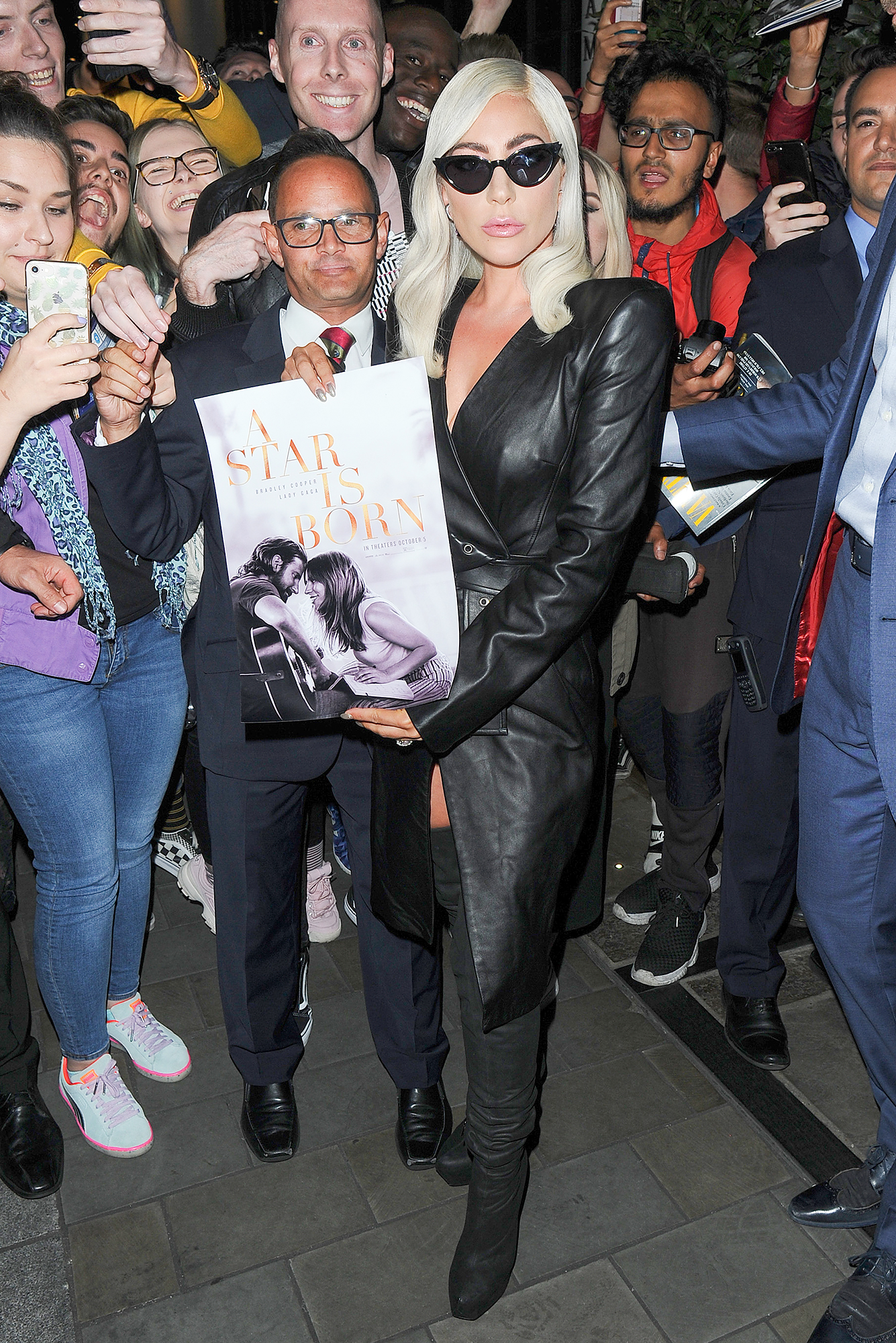 Lady Gaga is Pictured Leaving Her Hotel in London