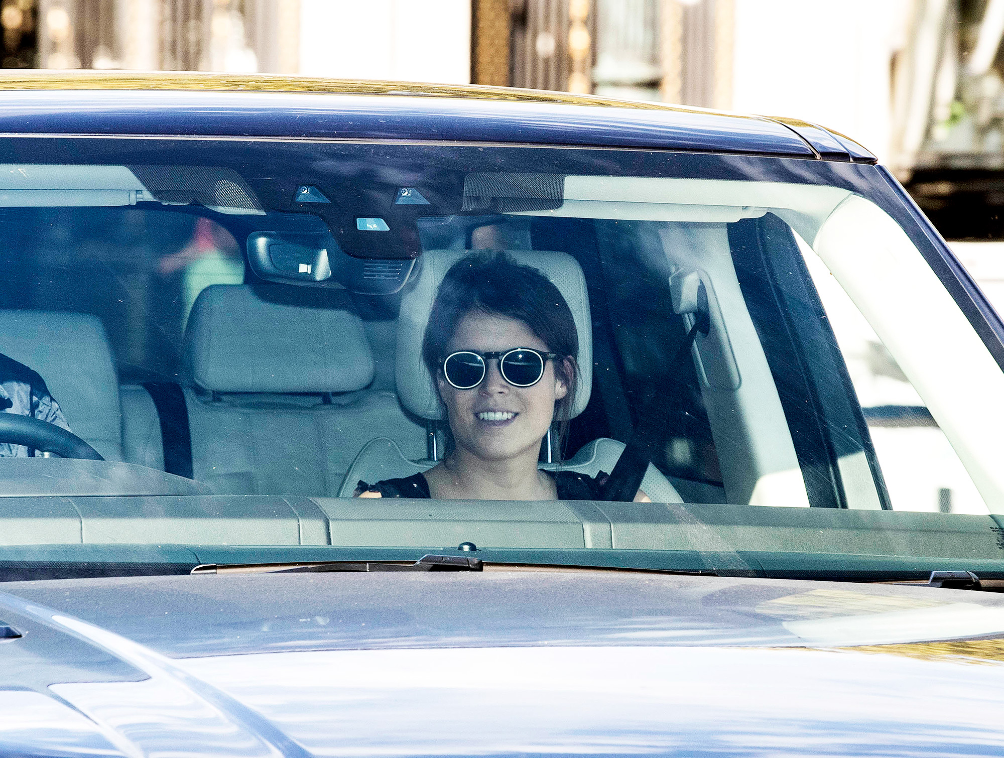 EXCLUSIVE: HRH Princess Eugenie is seen arriving at Buckingham Palace