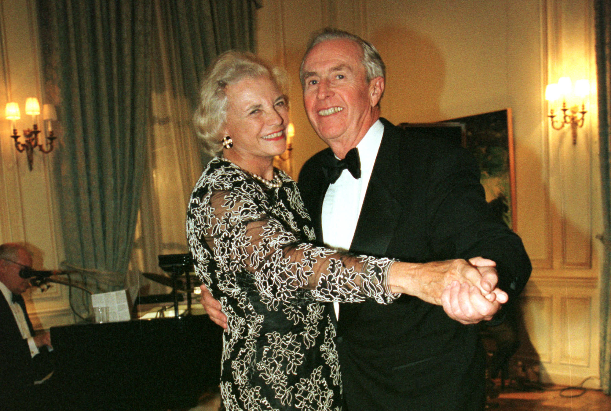Justice Sandra Day o''Connor Dances with Husband