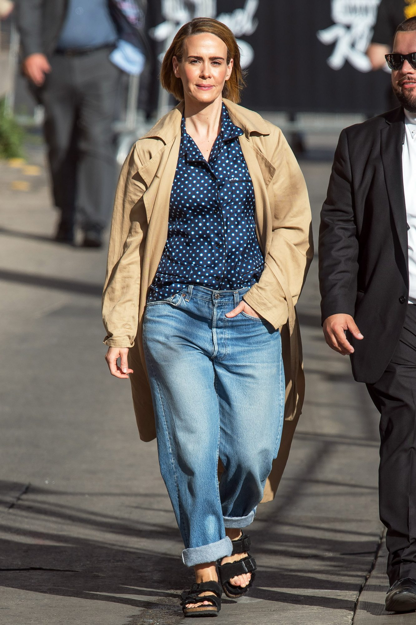 EXCLUSIVE: Sarah Paulson At Jimmy Kimmel Live In Los Angeles
