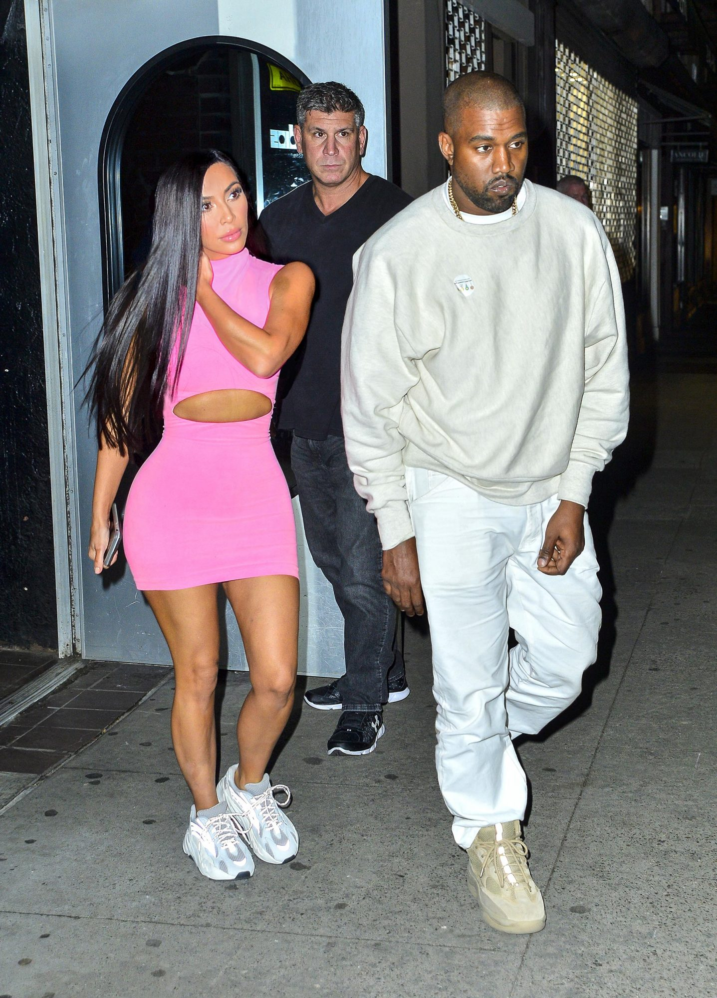 EXCLUSIVE: Kim Kardashian and Kanye West spotted during late night New York outing