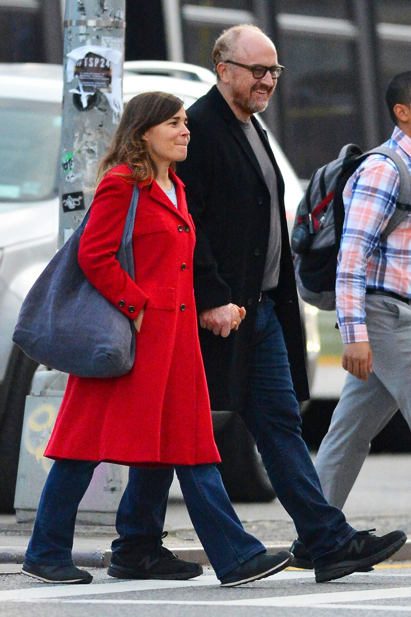 EXCLUSIVE: Louis CK is Spotted Holding Hands with French Comedian Blanche Gardin in New York City.