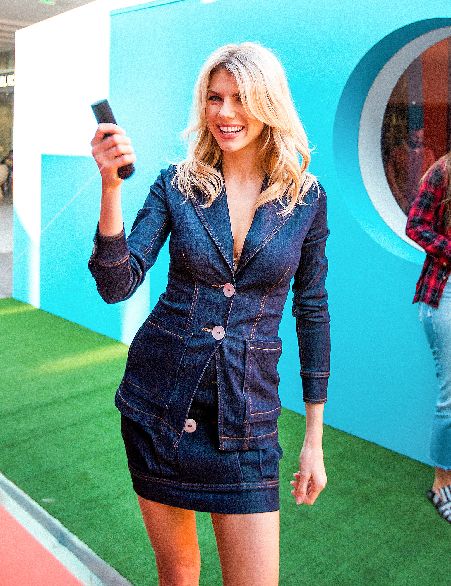 **EXCLUSIVE**  Photo Credit: NVE/ MOVI Inc.   Date: November 20th 2018 FOR GLOBAL SALES CALL (U.S) 310 739 4693 OR EMAIL contact@movi-inc.comCord Cutters Only! Actress Charlotte McKinney attends Amazon Fire TV's Black Friday Pop-Up at The Westfield Ce