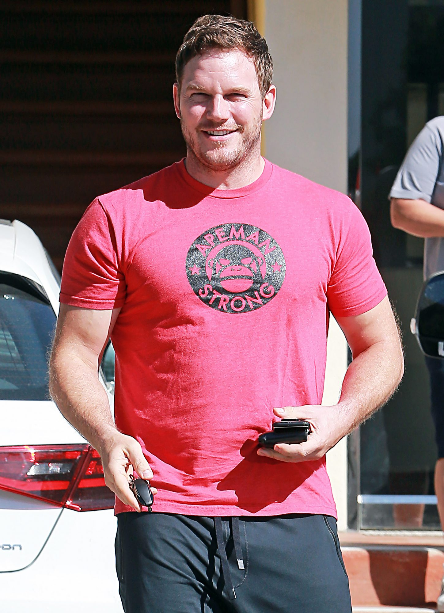 EXCLUSIVE: Chris Pratt proves he's 'Ape Man Strong' during a Halloween workout in Los Angeles, CA