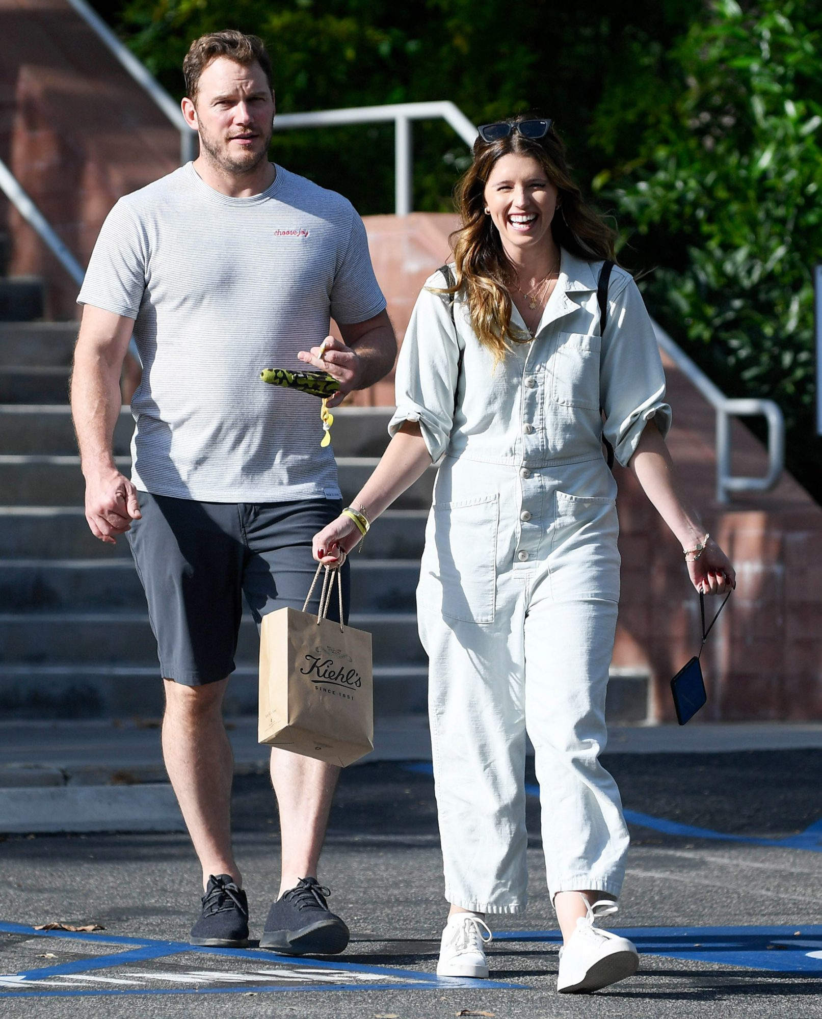 EXCLUSIVE: Chris Pratt and Katherine Schwarzenegger leave a boy scout meeting