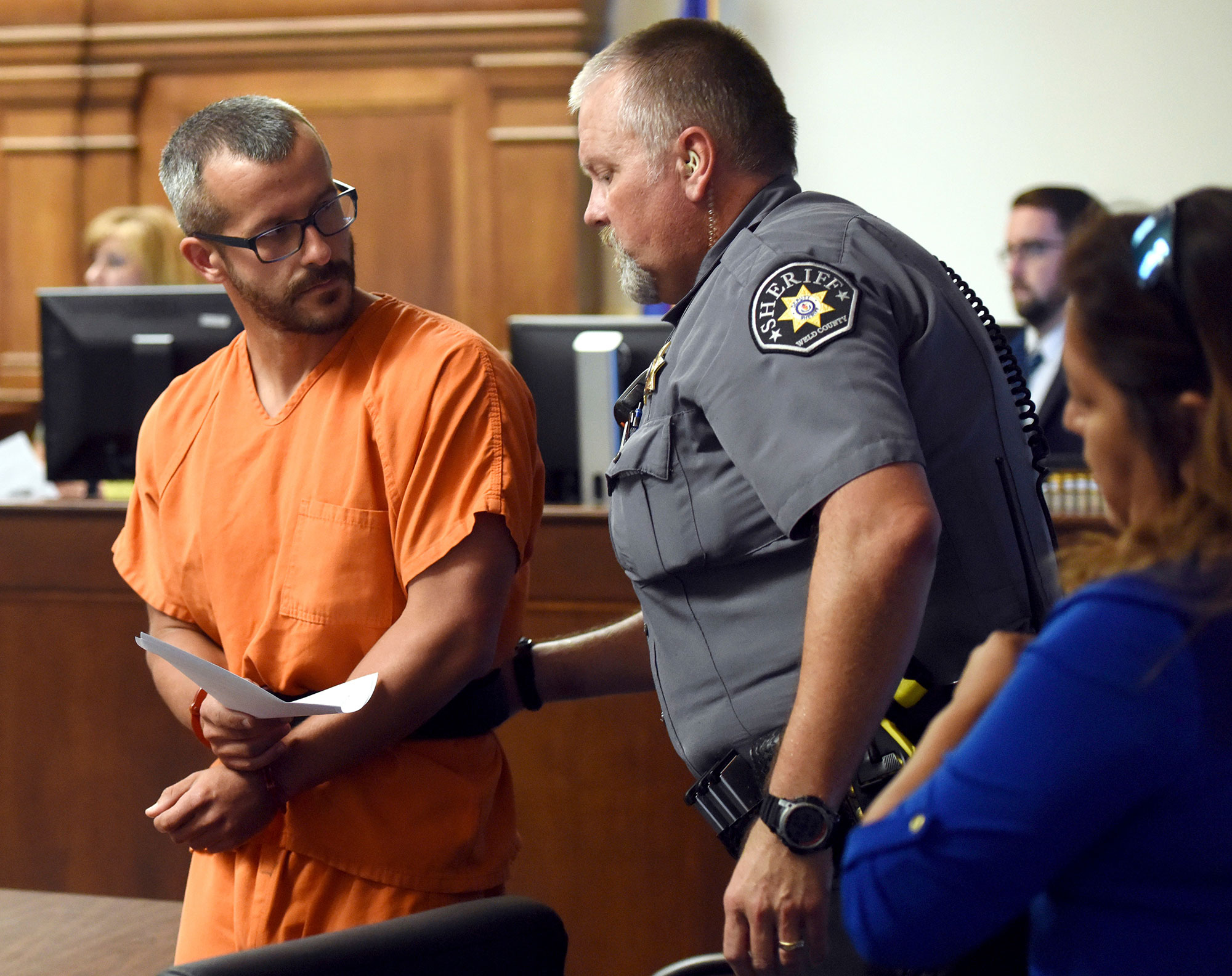 Christopher Watts court case, Greeley, Colorado, USA - 16 Aug 2018