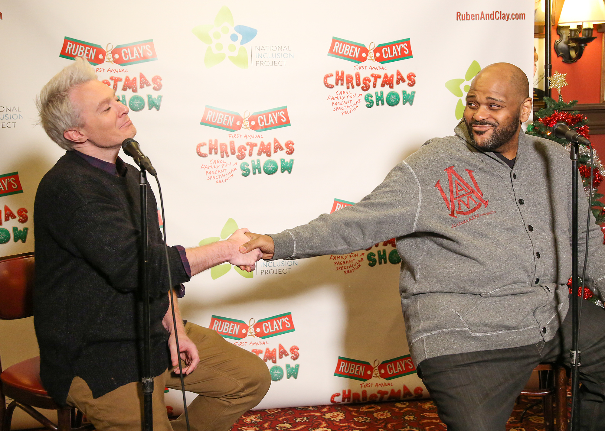 Ruben & Clay's First Annual Christmas Carol Family Fun Pageant Spectacular Reunion Show Photo Call