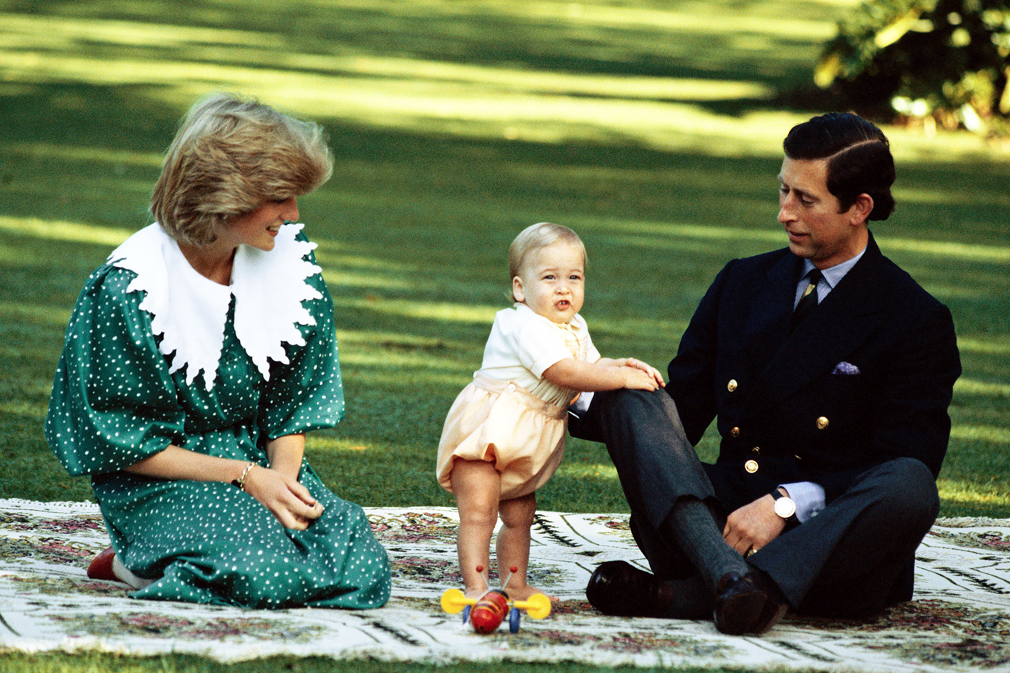 Charles and Diana with Prince William