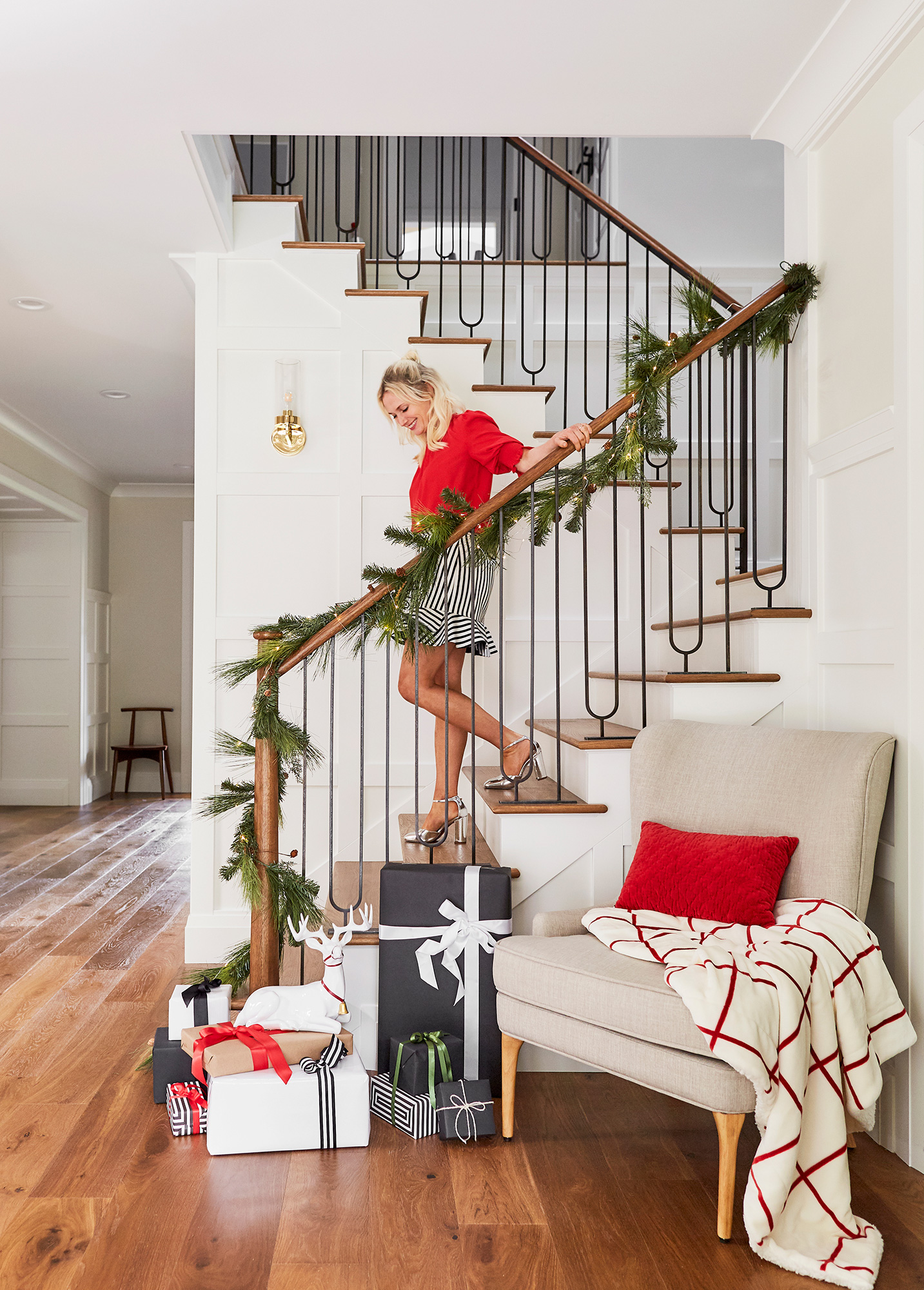 emily-henderson-target-holiday-decor-stairs