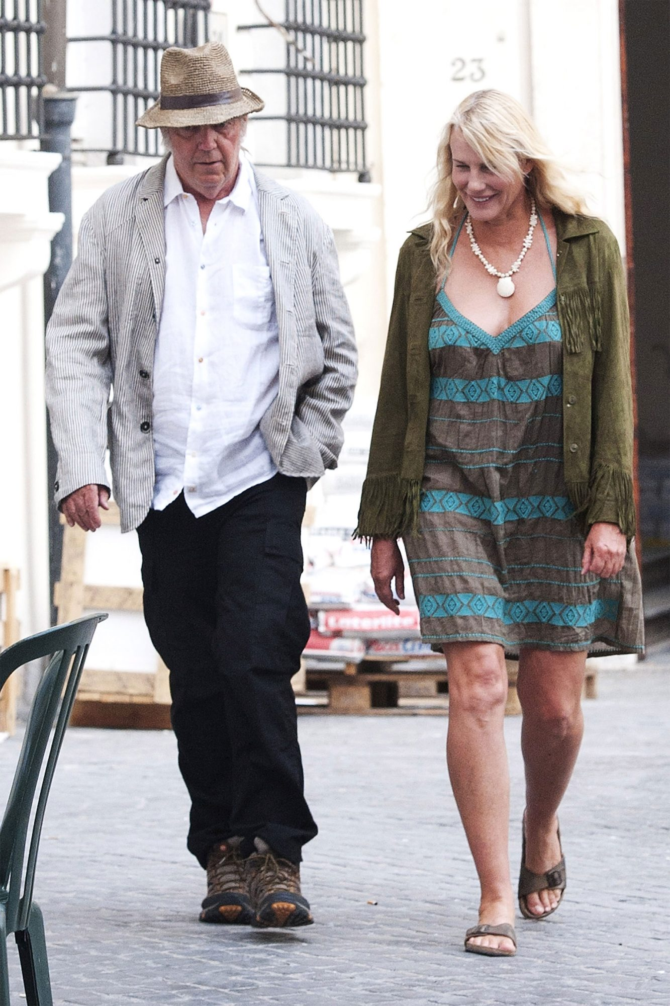 Rome Celebrity Sightings Daryl Hannah, Neil Young  June 27th, 2015