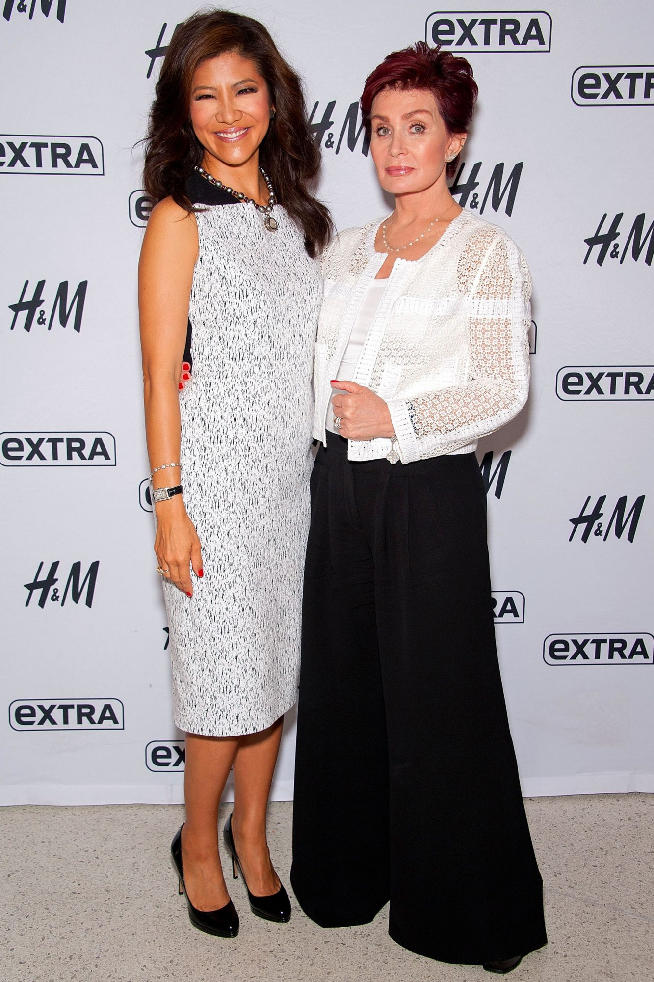 "Julie Chen And Sharon Osbourne Visit ""Extra"""