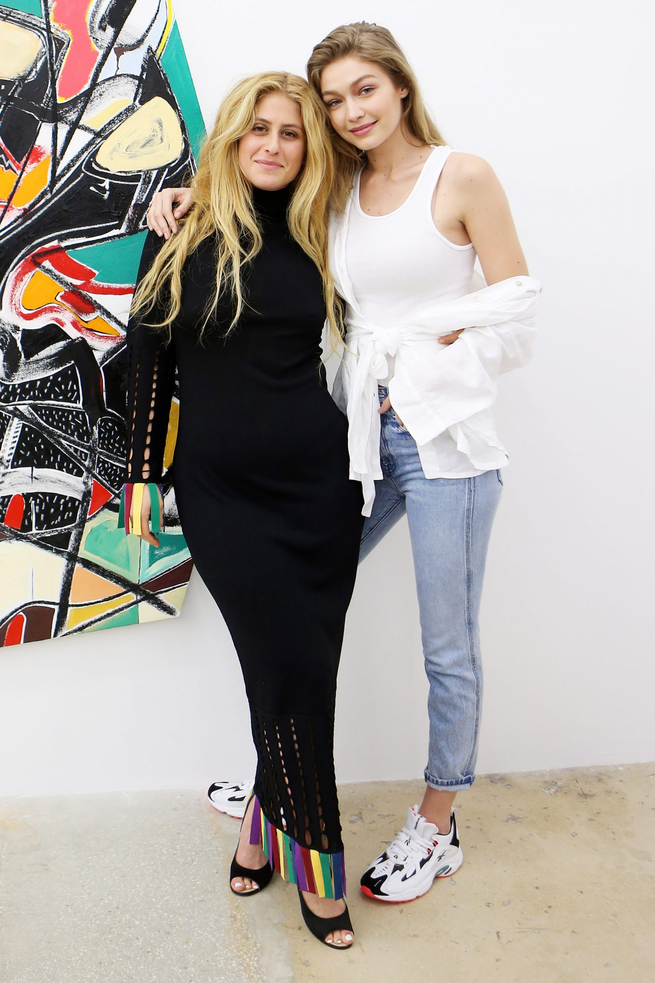 Supermodel Gigi Hadid and her brother Anwar attend an art gallery opening in Miami