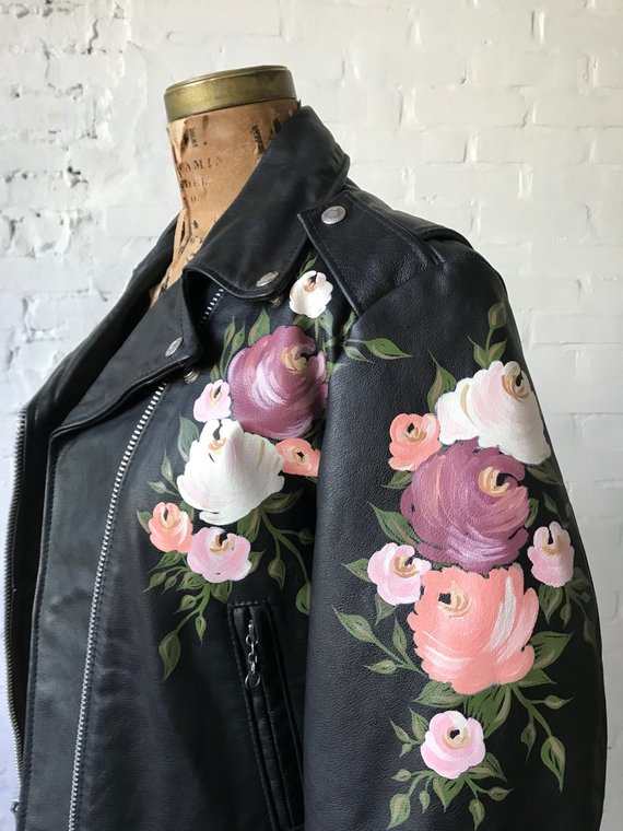 For the Girl Who Has Everything: A Hand-Painted Jacket by Etsy Shop Once Upon a Laurén