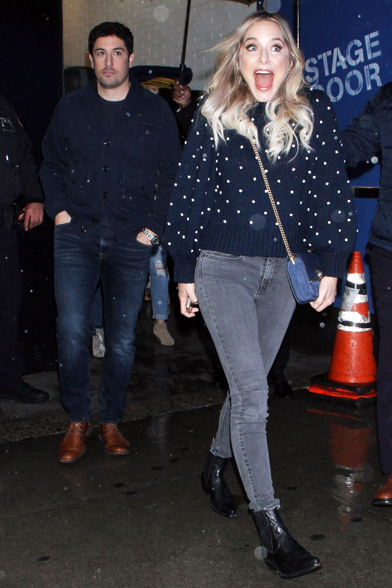 Jason Biggs and Jenny Mollen Seen In NYC