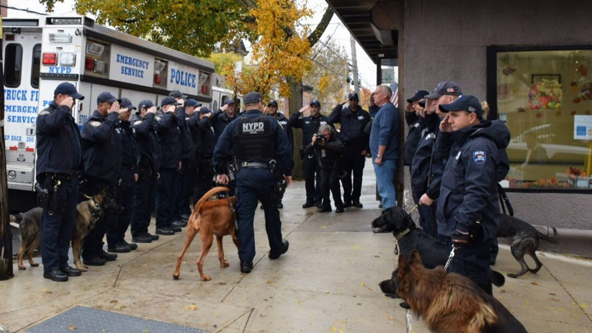 NYPD saluted a k-9 who lost her battle to cancer AngelCredit: NYPD
