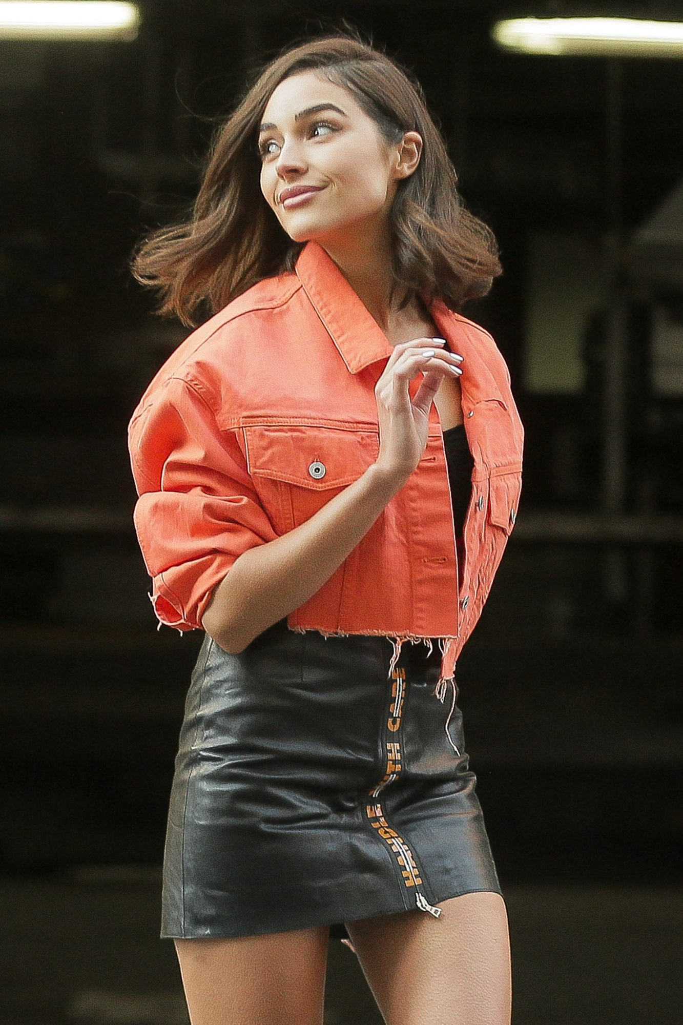 Olivia Culpo poses up for a photoshoot in New York City