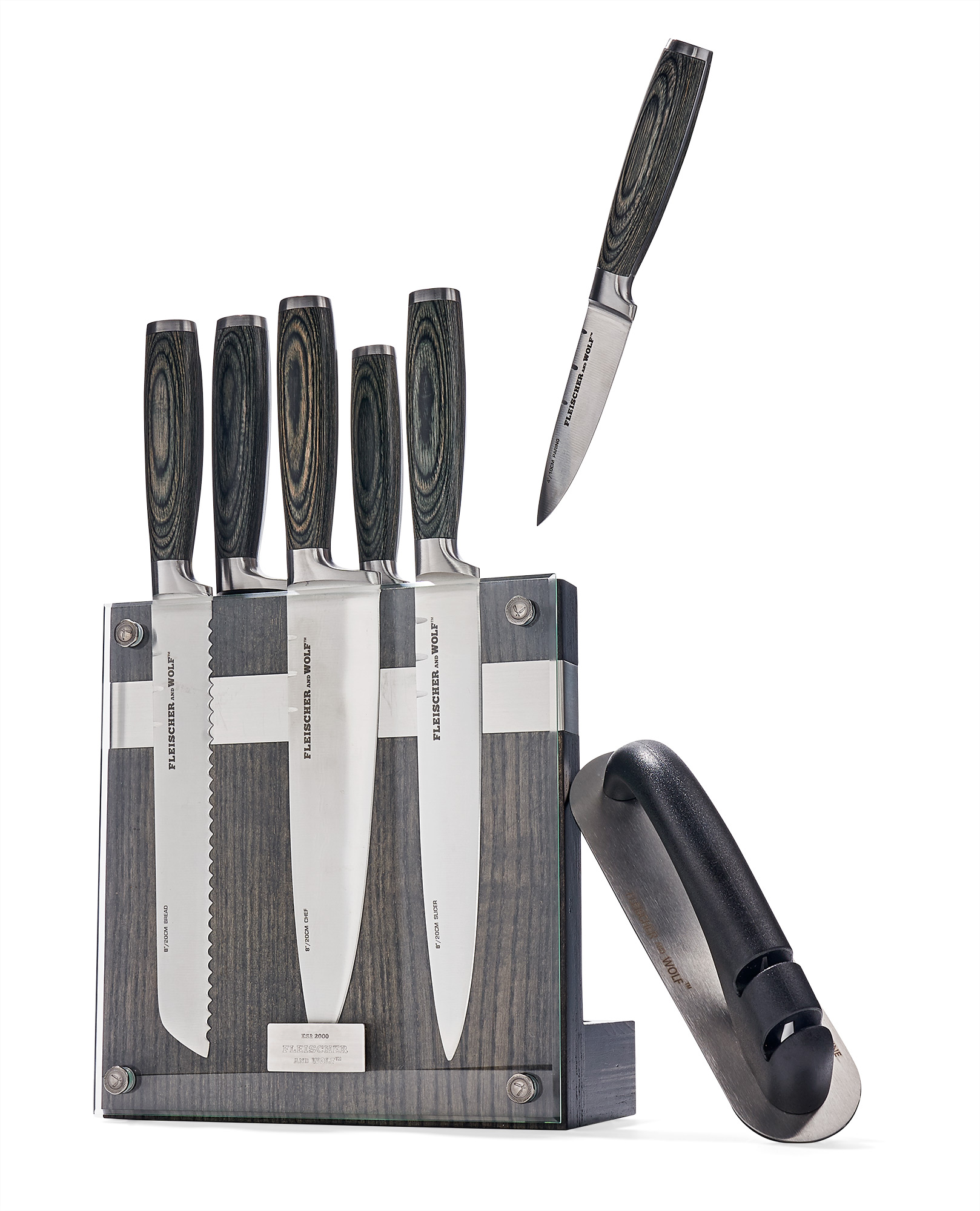 Fleischer & Wolf Portland Ash Eight-Piece Knife-BlockSet