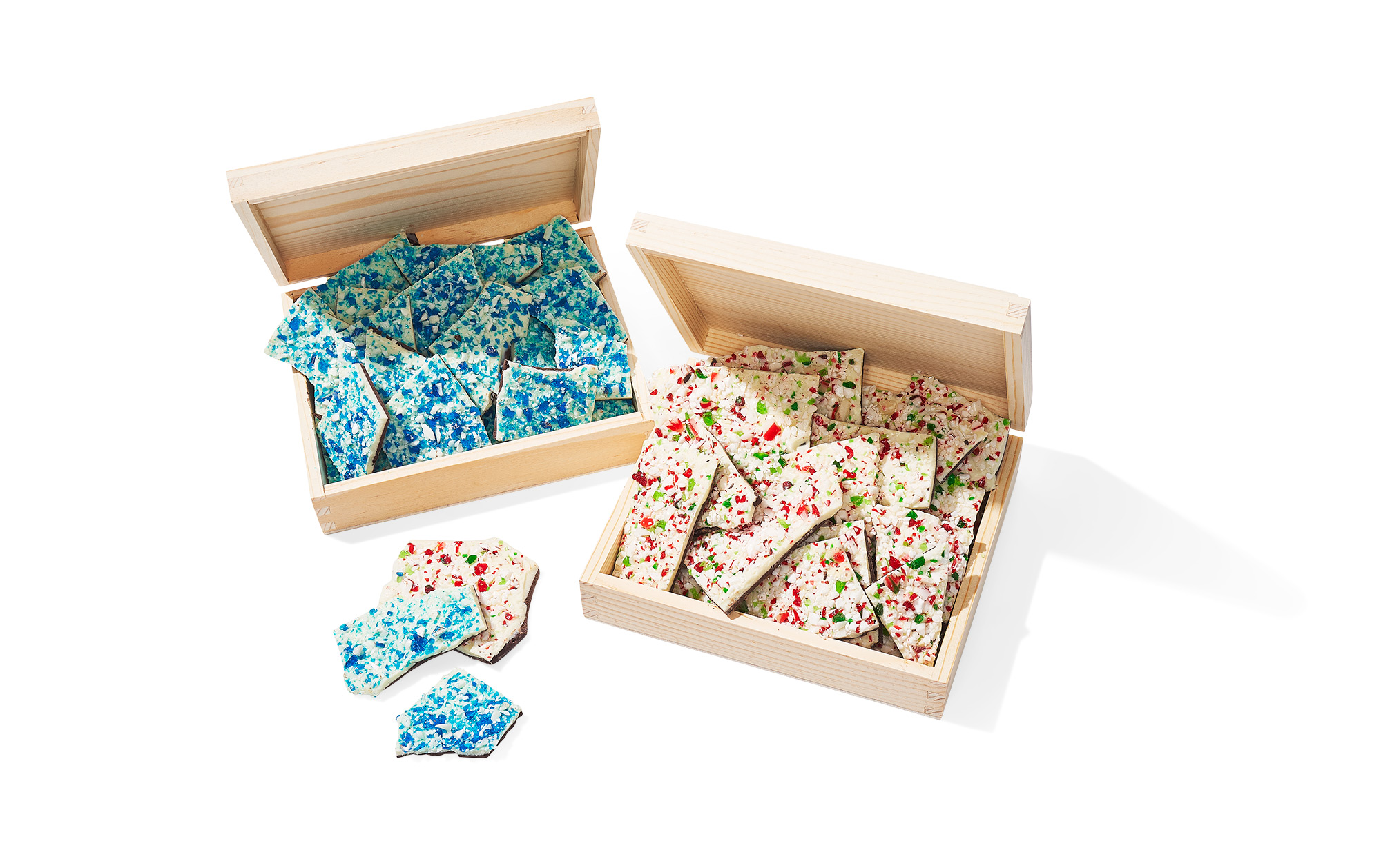 Hilliards Chocolates Hanukkah Bark and Peppermint Bark boxes