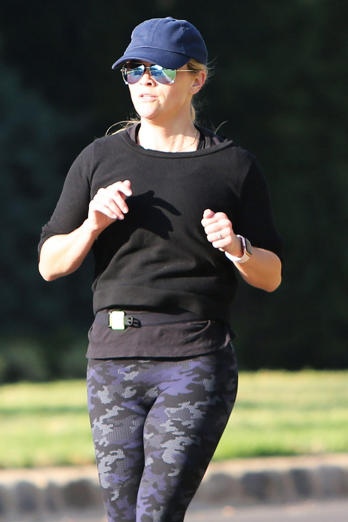 Reese Witherspoon Goes Running In Los Angeles