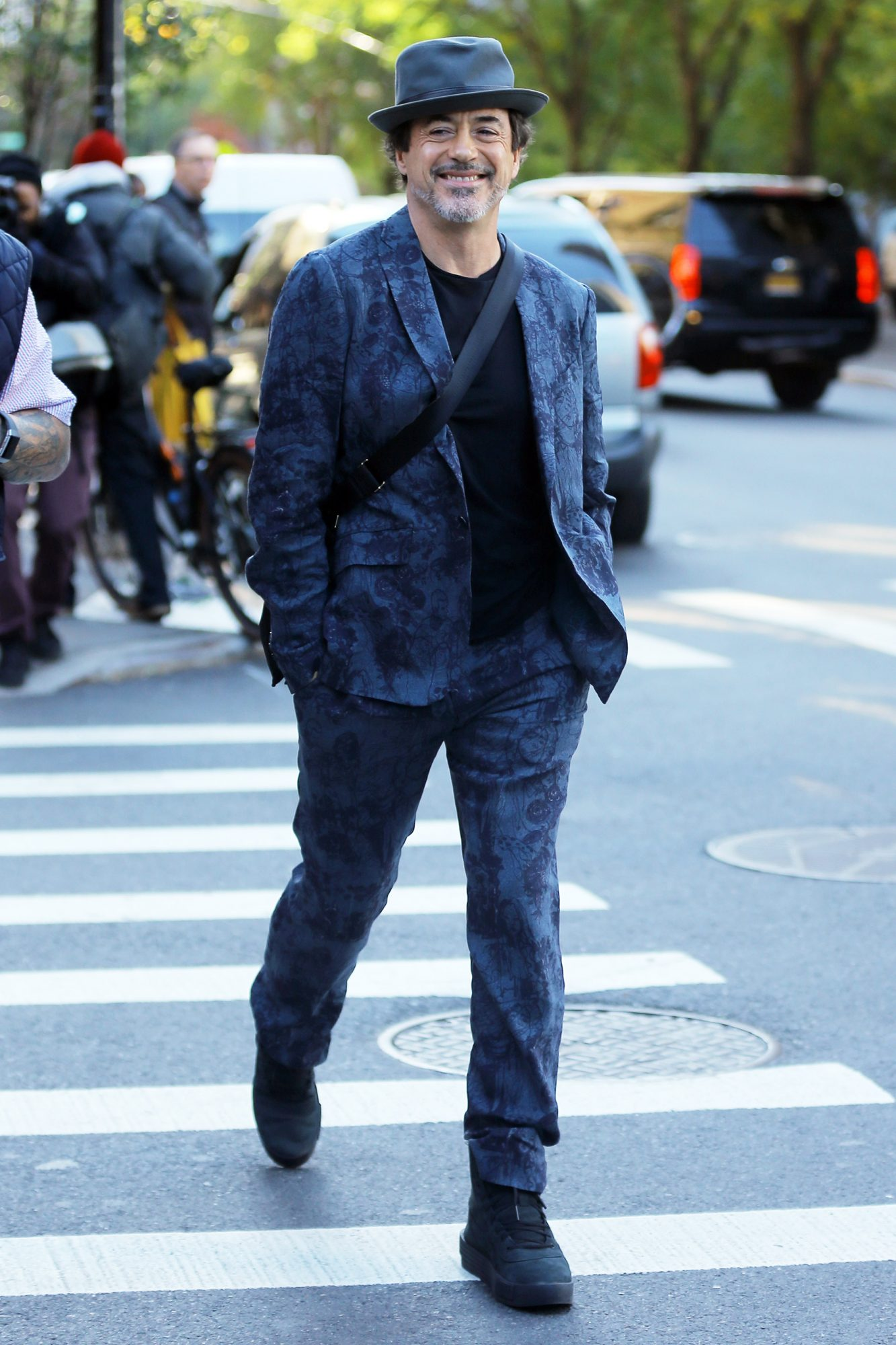 Actor Robert Downey, Jr. leaves the Greenwich Hotel in New York City, New York on November 8, 2018.