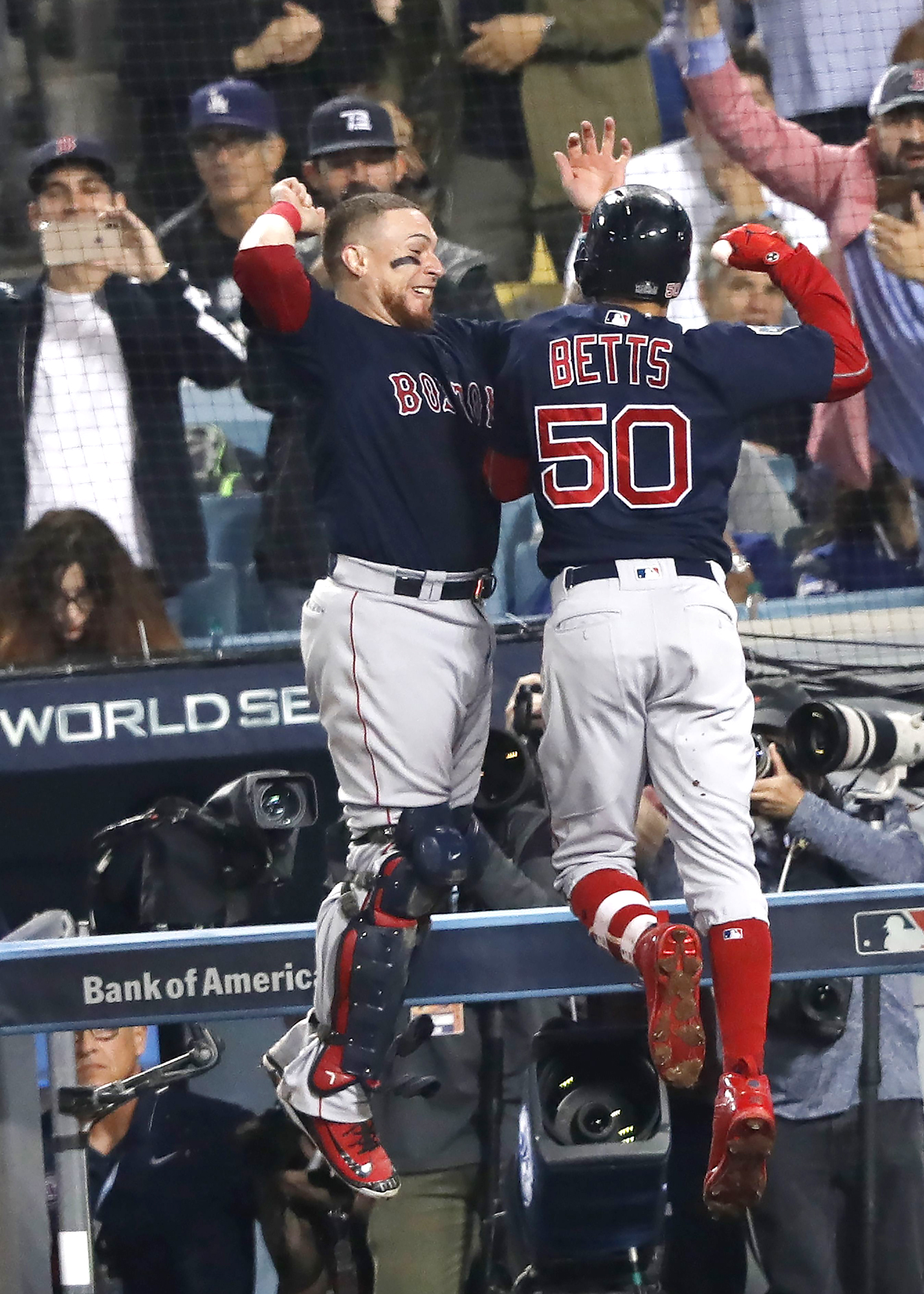 Boston Red Sox at Los Angeles Dodgers, USA - 28 Oct 2018
