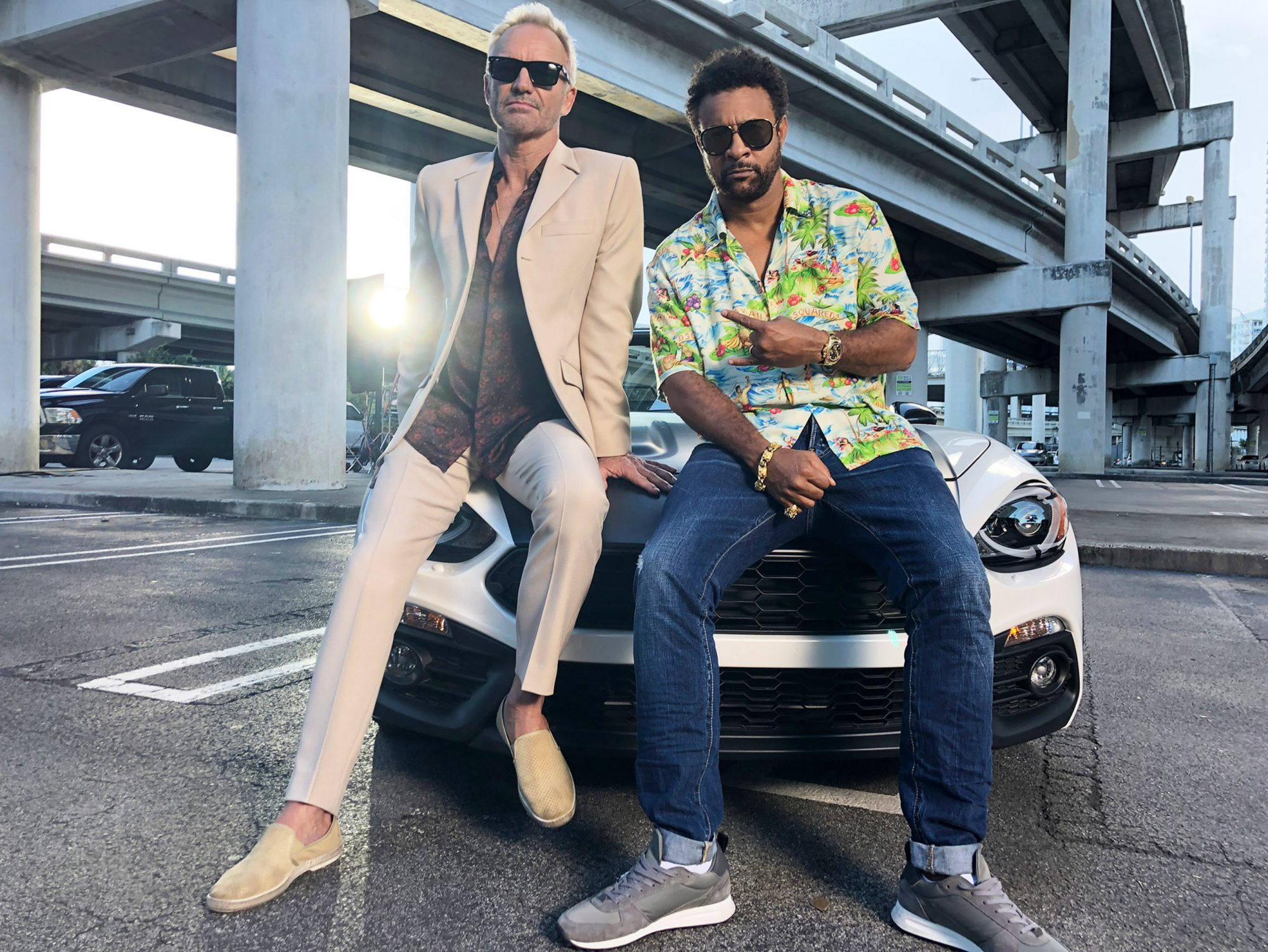 Sting and Shaggy go all Miami Vice in the latest installment of their bromance
