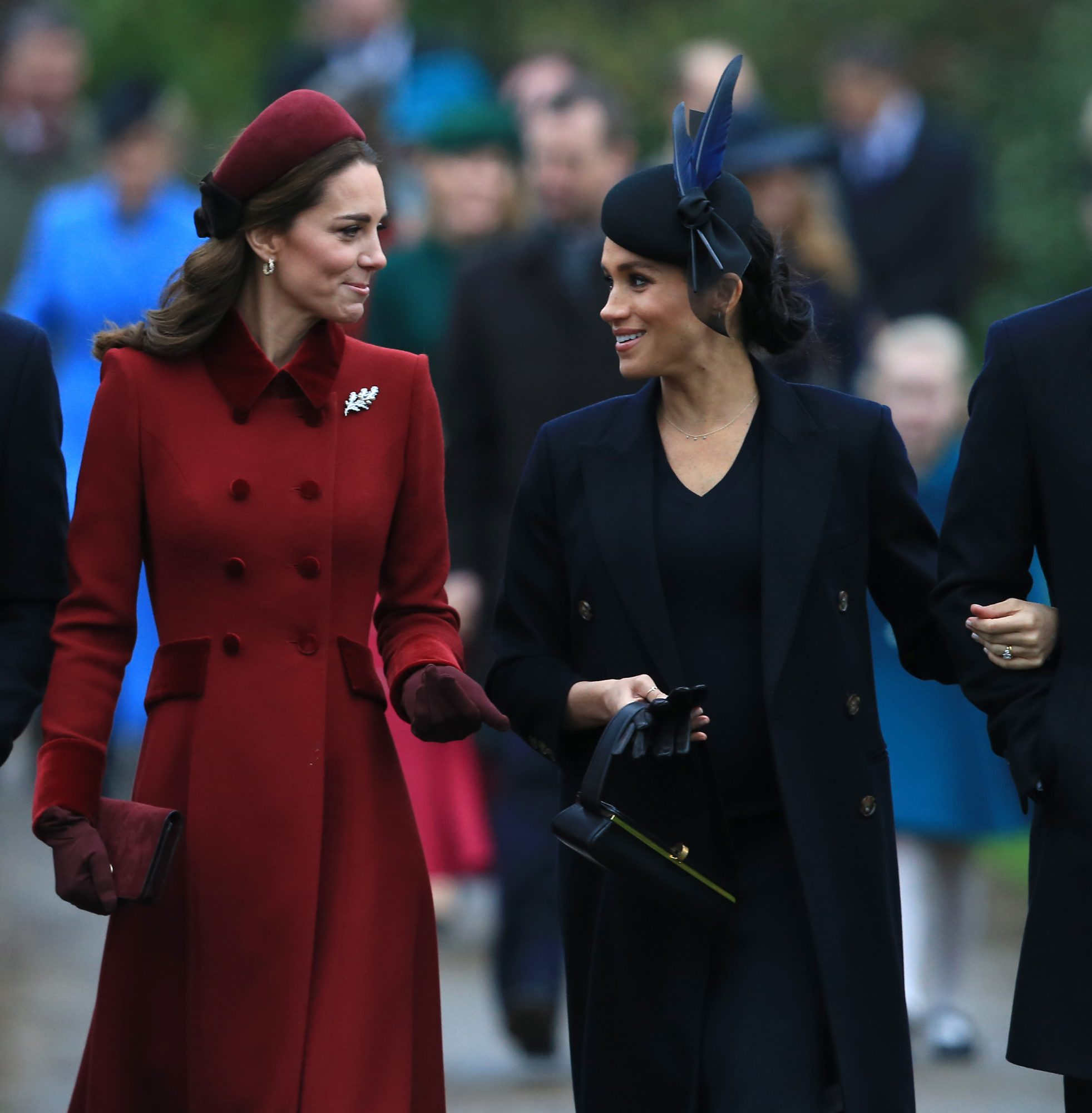 The Royal Family Attend Church On Christmas Day