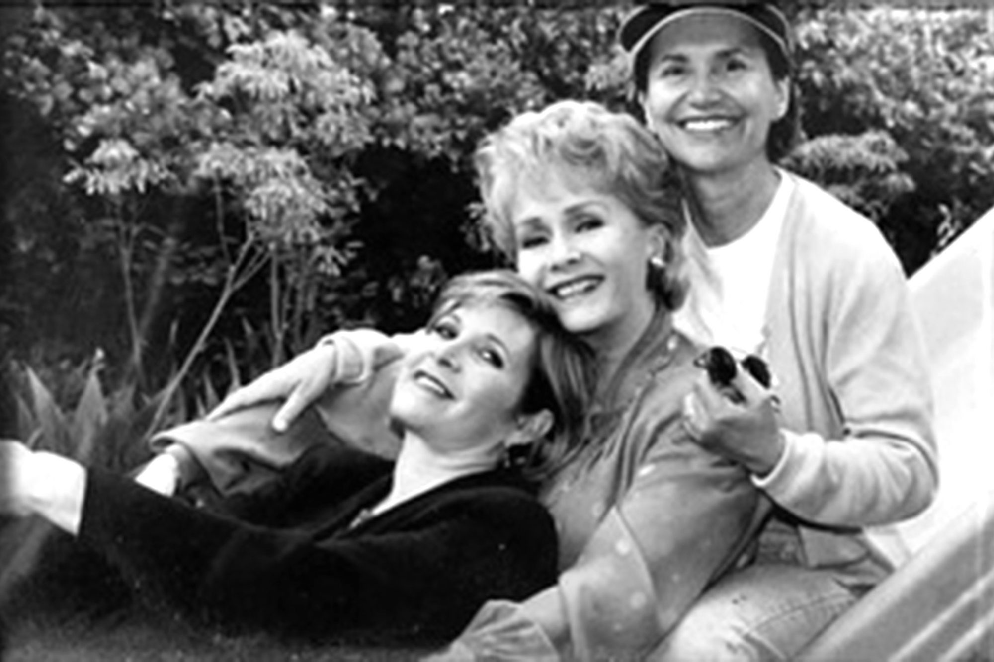 Carrie Fisher, Debbie Reynolds and Sue Cameron