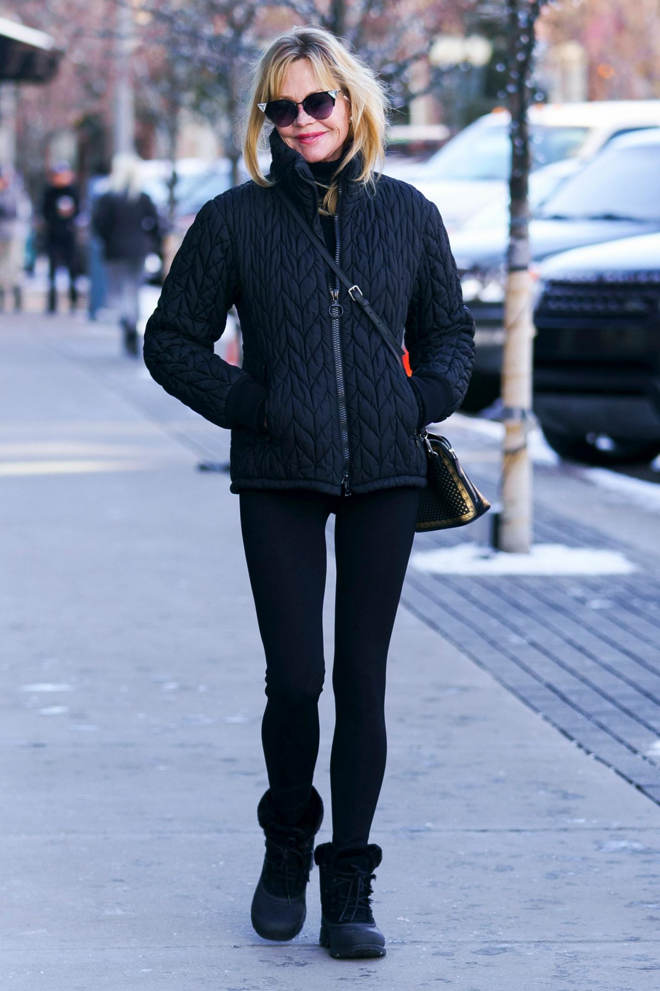 Melanie Griffith and Stella Banderas go for last minute Christmas shopping at James Perse in Aspen, Colorado.