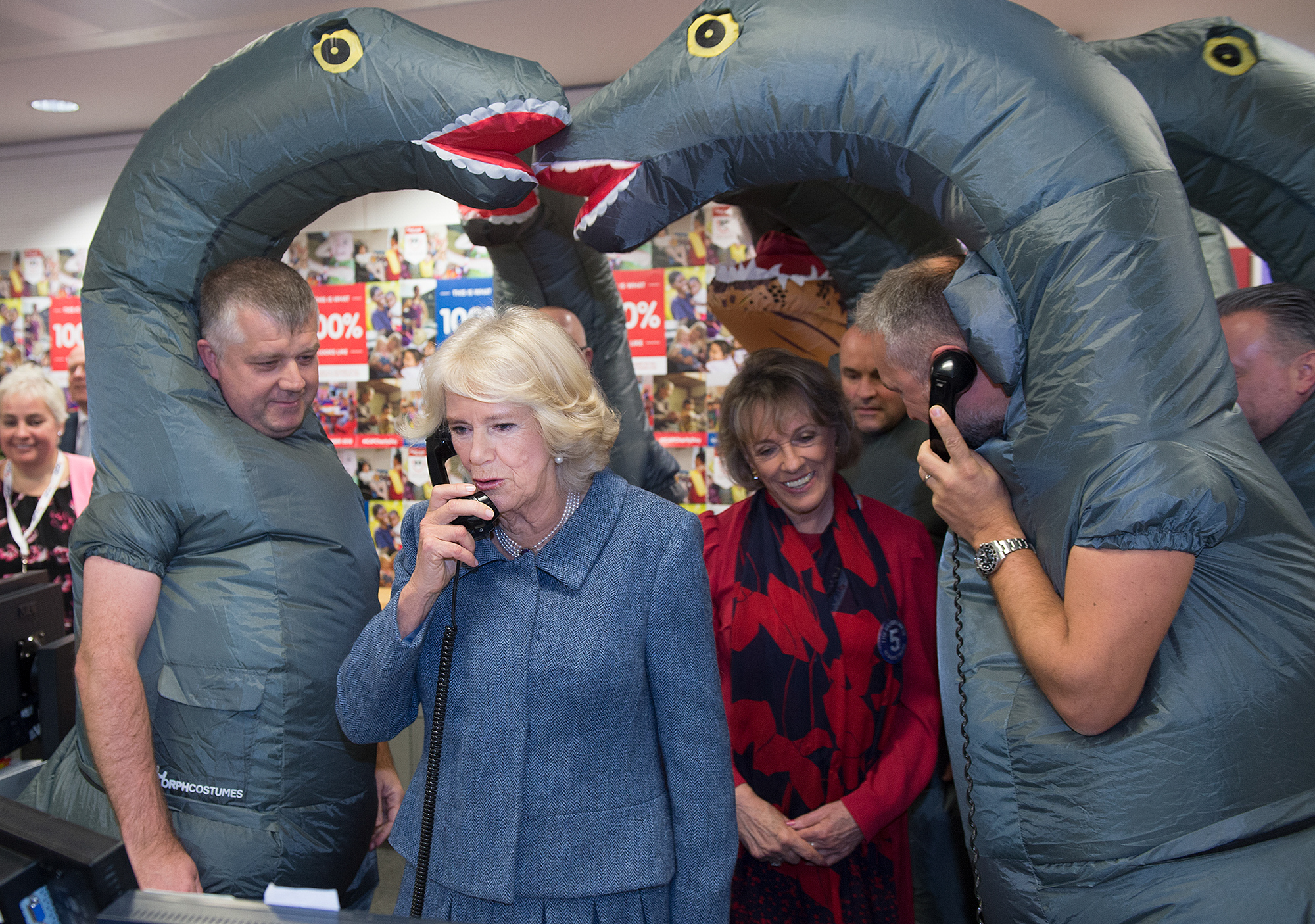 Camilla, Duchess of Cornwall Visits ICAP Broker's Annual Charity Day
