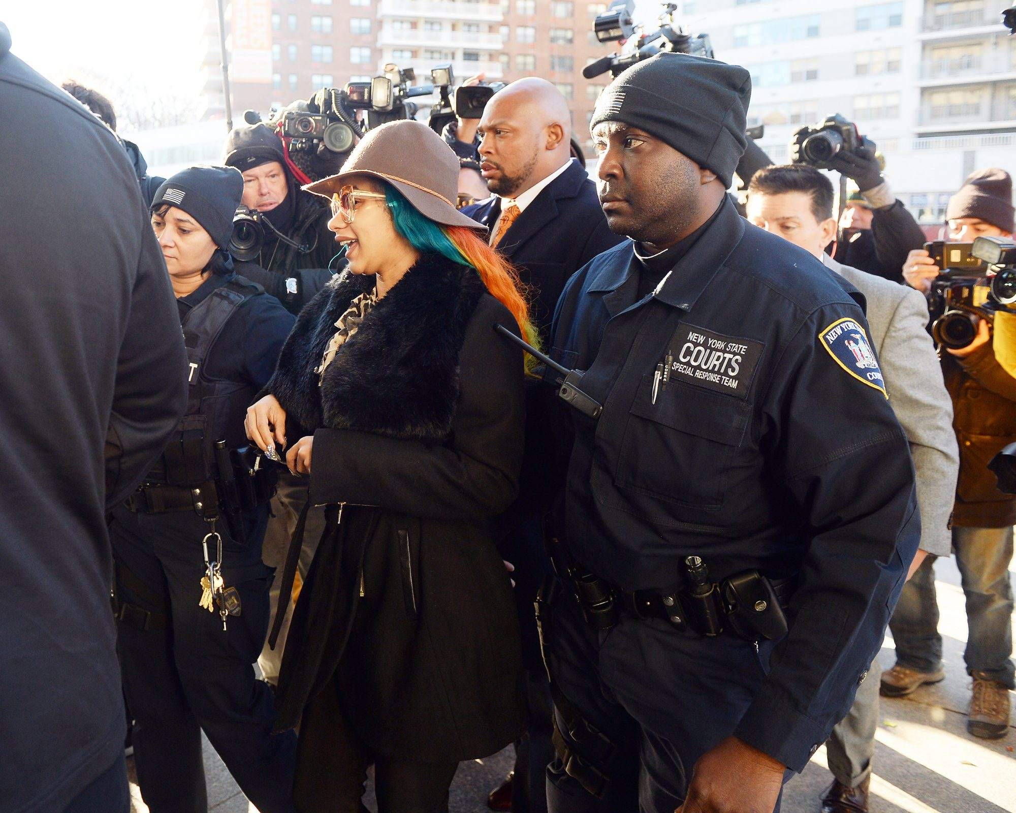 Cardi B Arrives in Queens Criminal Court facing assault  charges over a fight with 2 woman in a queens club